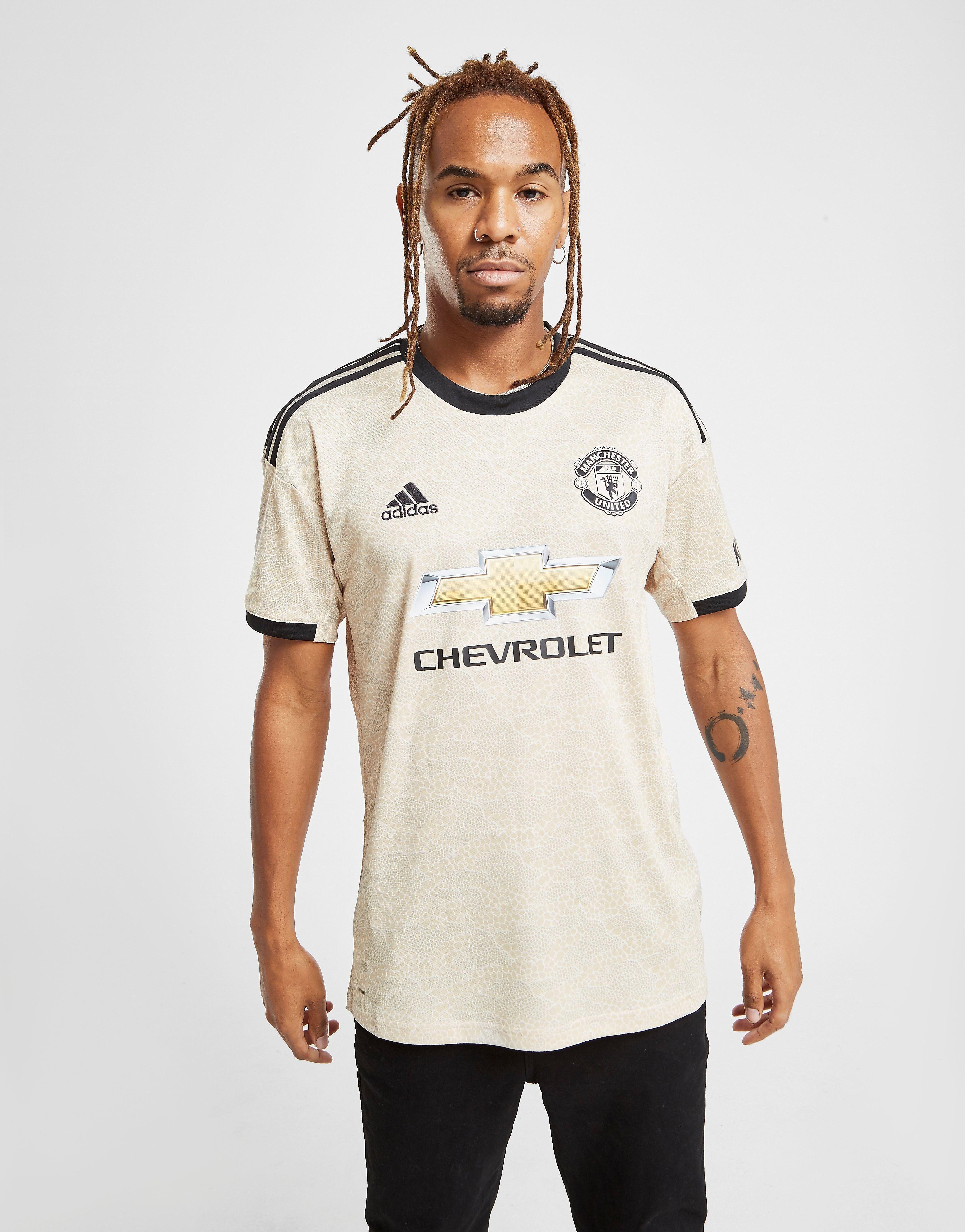 Image of Adidas Manchester United FC 2019/20 Vieraspaita - Mens, Ruskea