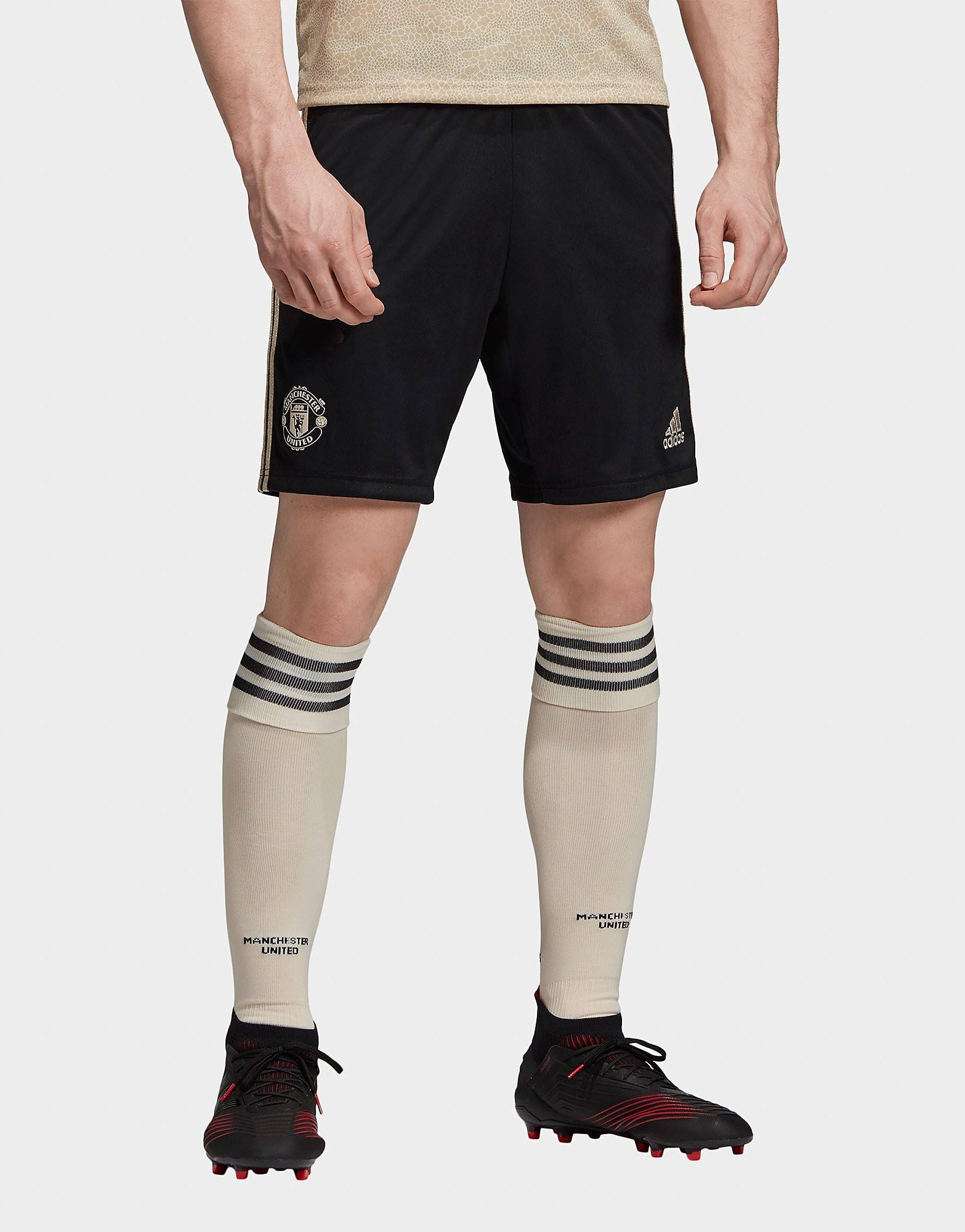 Image of Adidas Manchester United FC 2019/20 Vierasshortsit - Mens, Musta