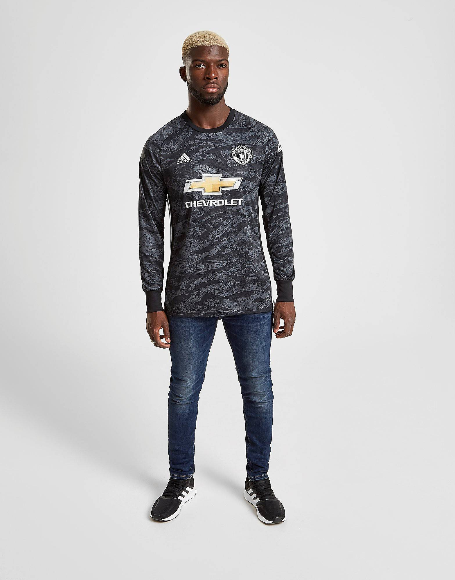 Image of Adidas Manchester United 19/20 Goalkeeper Vieraspaita - Mens, Musta