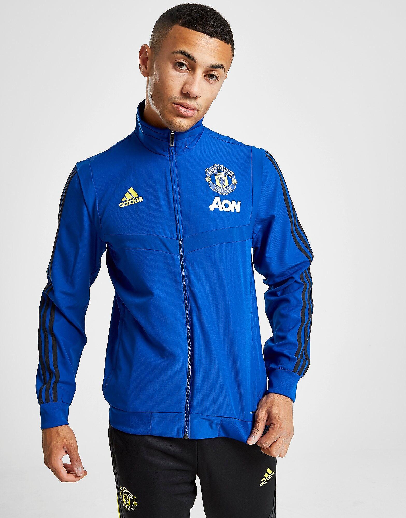Image of Adidas Manchester United FC Takki Miehet - Mens, Sininen