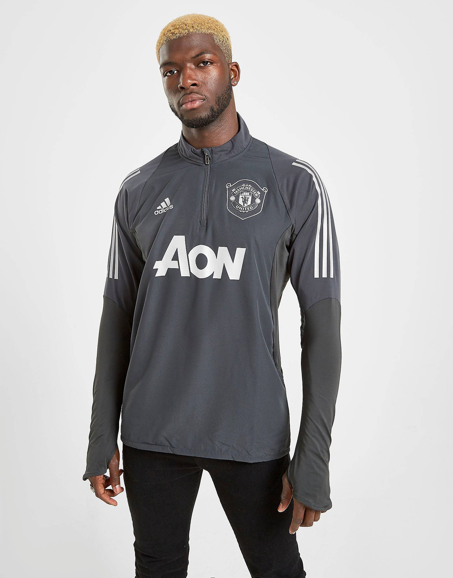 Image of Adidas Manchester United FC European Verryttelypaita Miehet - Mens, Harmaa