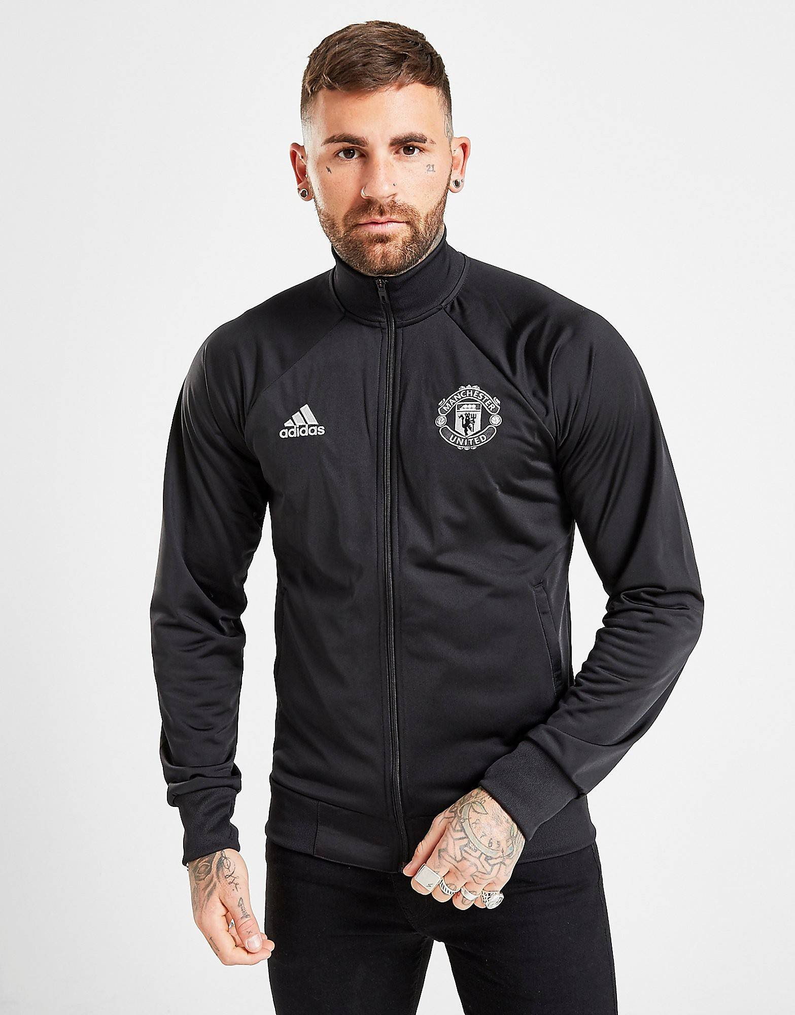 Image of Adidas Manchester United FC Icons Track Top - Mens, Musta