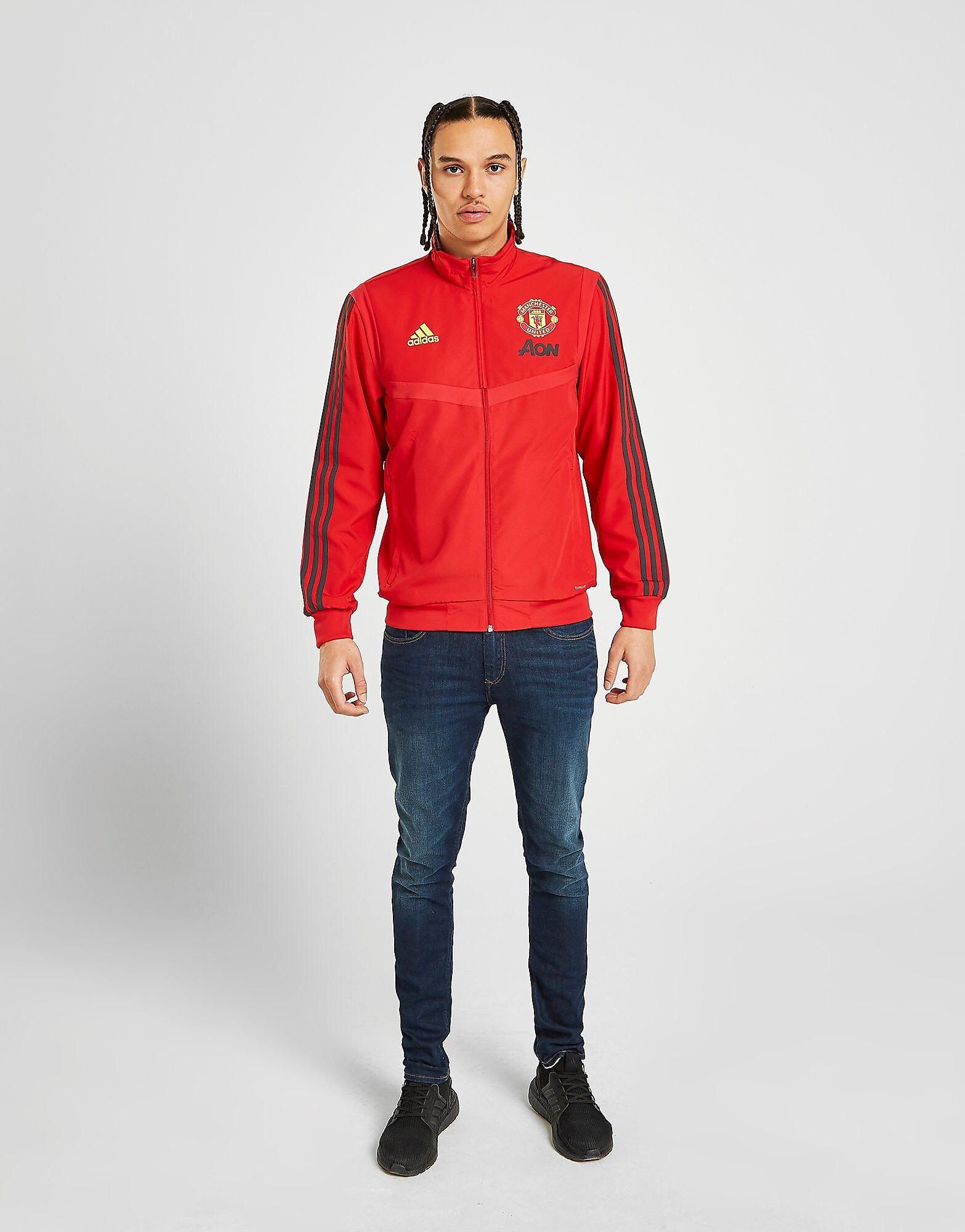 Image of Adidas Manchester United FC Presentation Verryttelytakki Miehet - Mens, Punainen