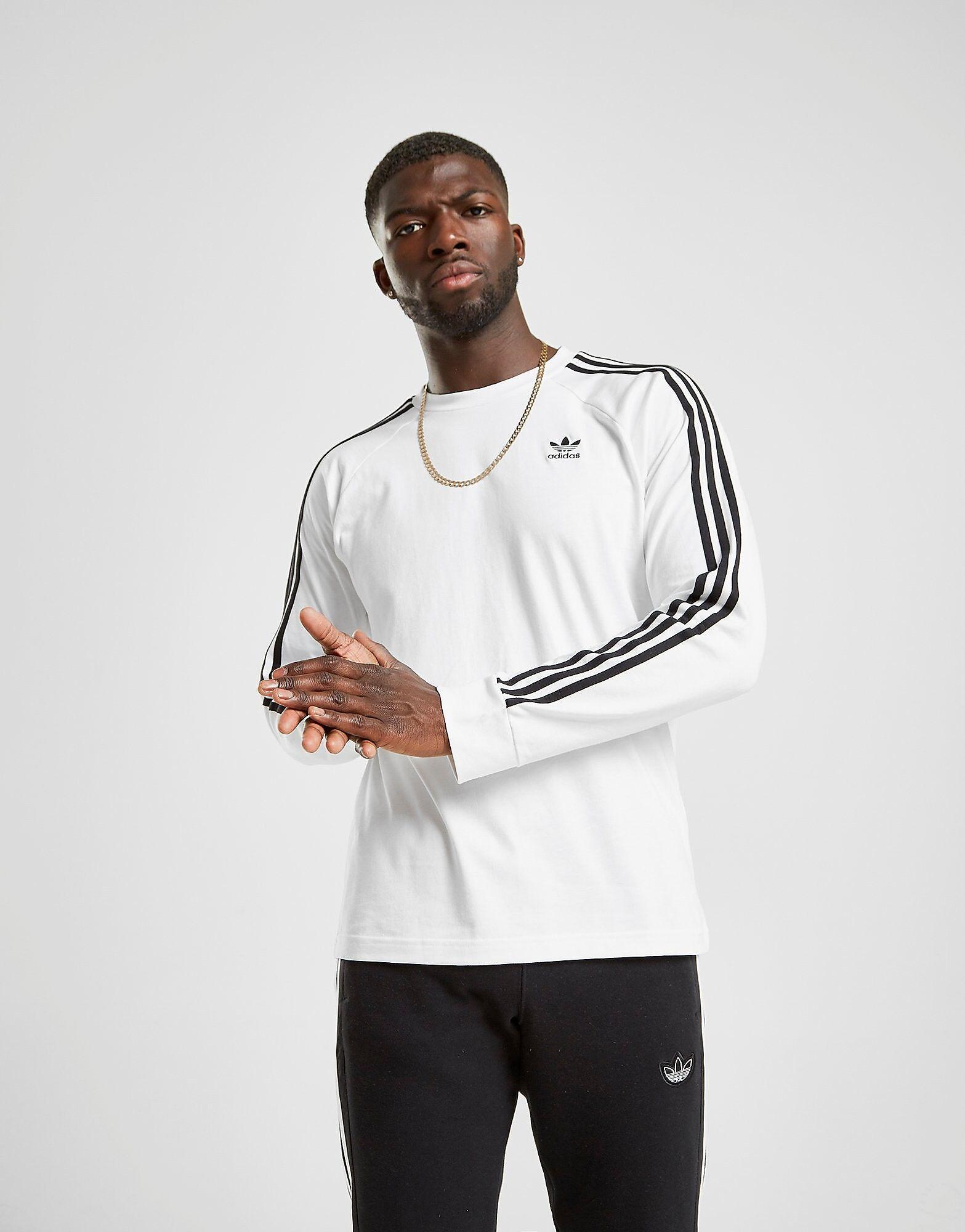 Image of Adidas Originals California Pitkähihainen T-Paita Miehet - Mens, Valkoinen
