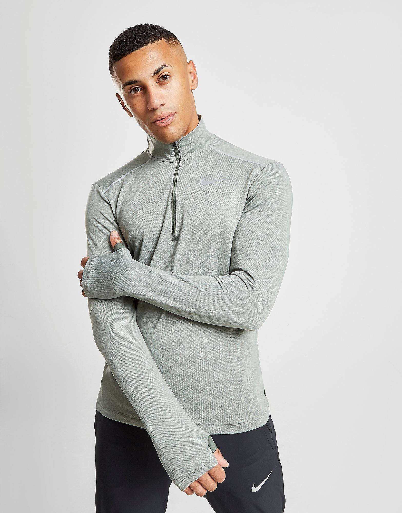 Image of Nike Element 3.0 1/2 Zip Top - Mens, Vihreä