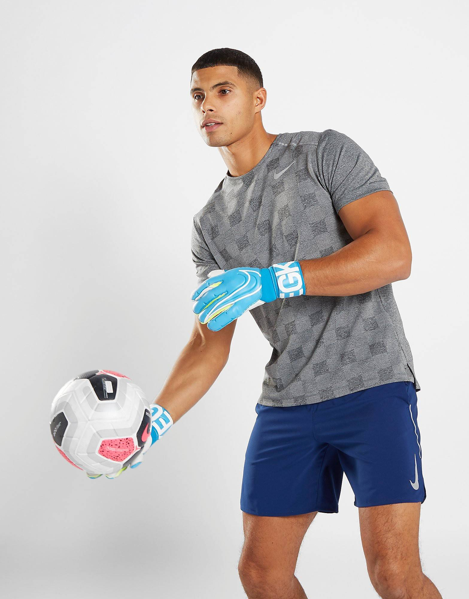 Image of Nike Goalkeeper Grip3 Gloves - Mens, Sininen