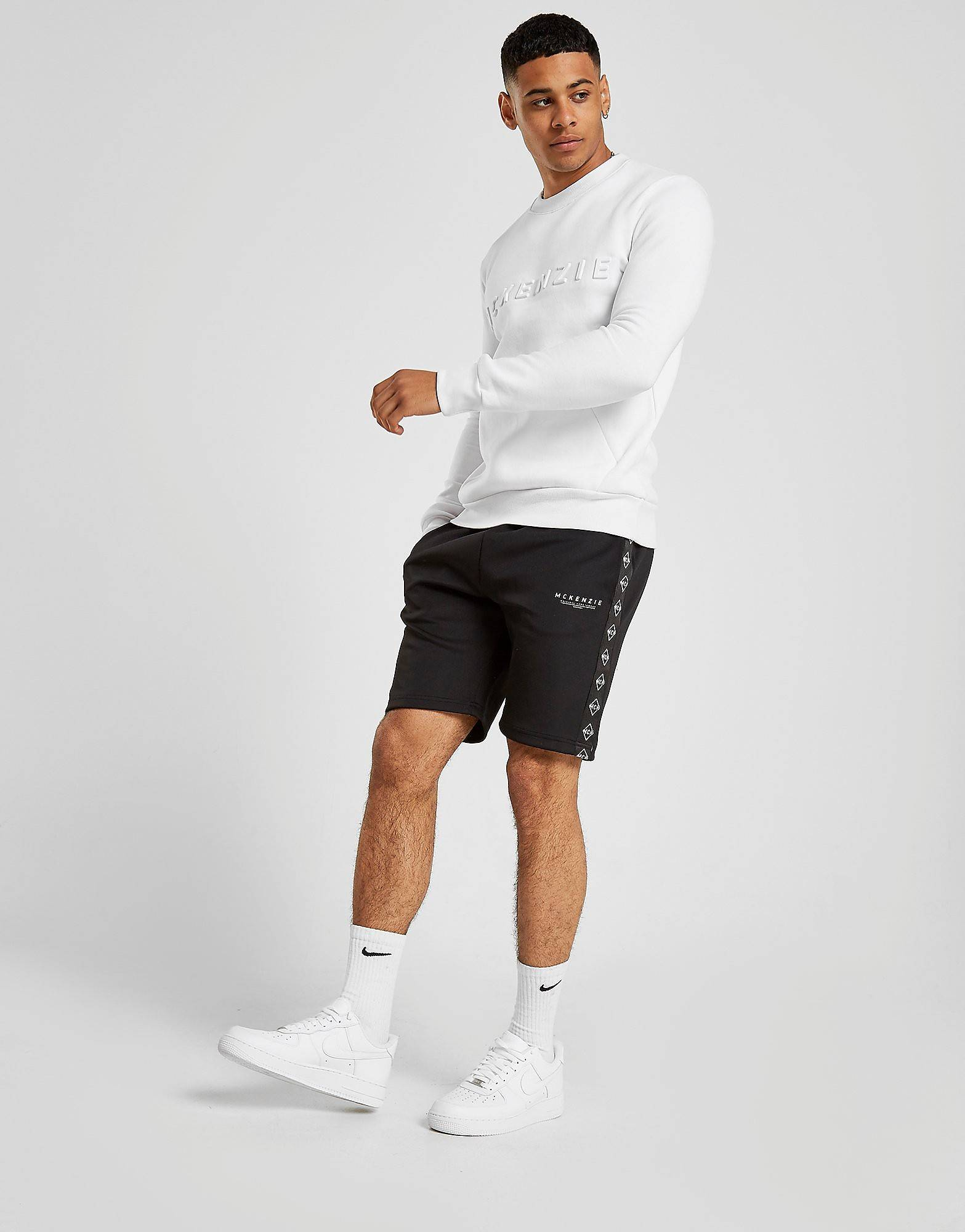 Image of McKenzie Aaron Poly Tape Shorts - Only at JD - Mens, Musta