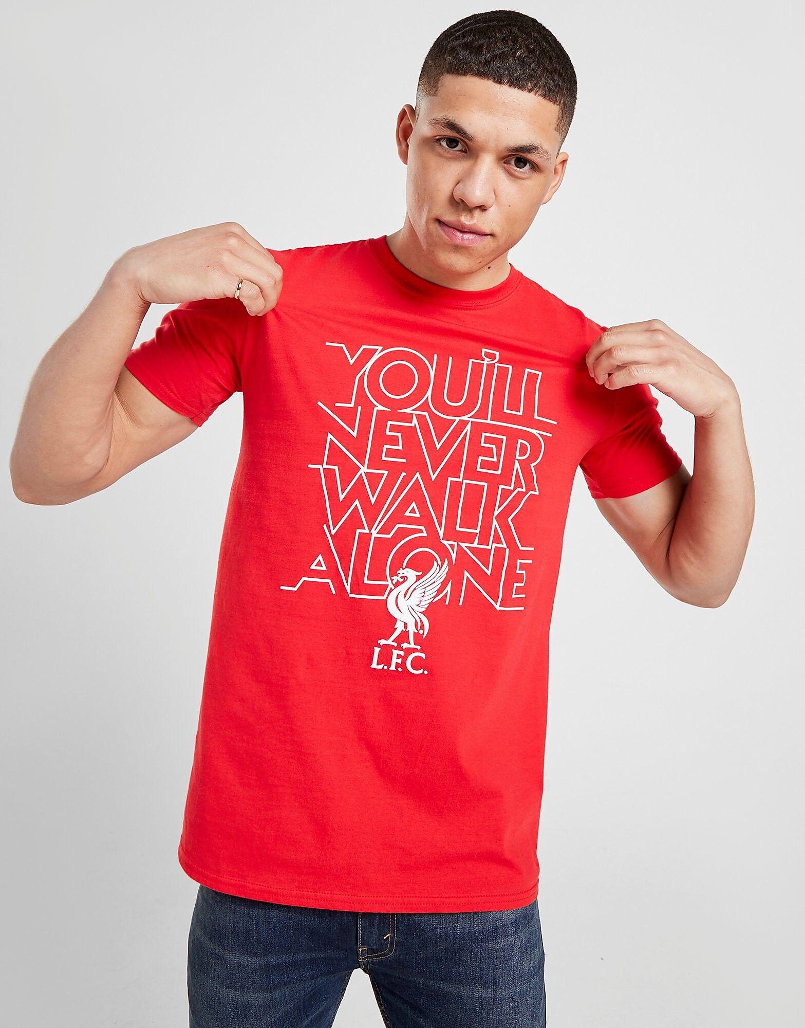 Official Team  Liverpool FC YNWA T-paita Miehet - Mens, Punainen