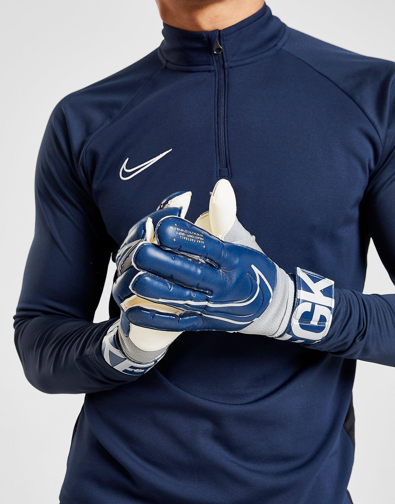 Image of Nike Goalkeeper Grip3 Gloves - Mens, Laivastonsininen