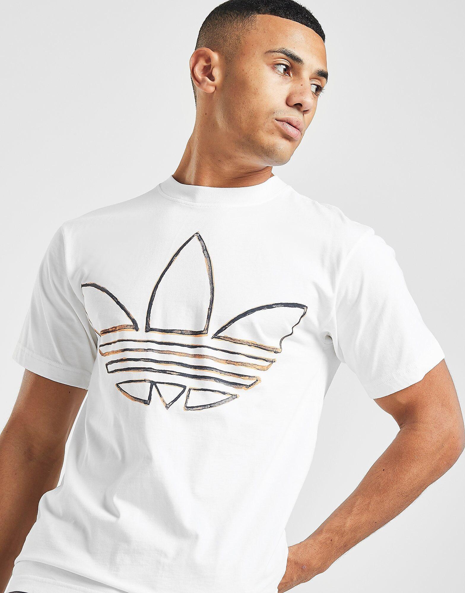 Image of Adidas Originals Watercolour T-paita Miehet - Mens, Valkoinen