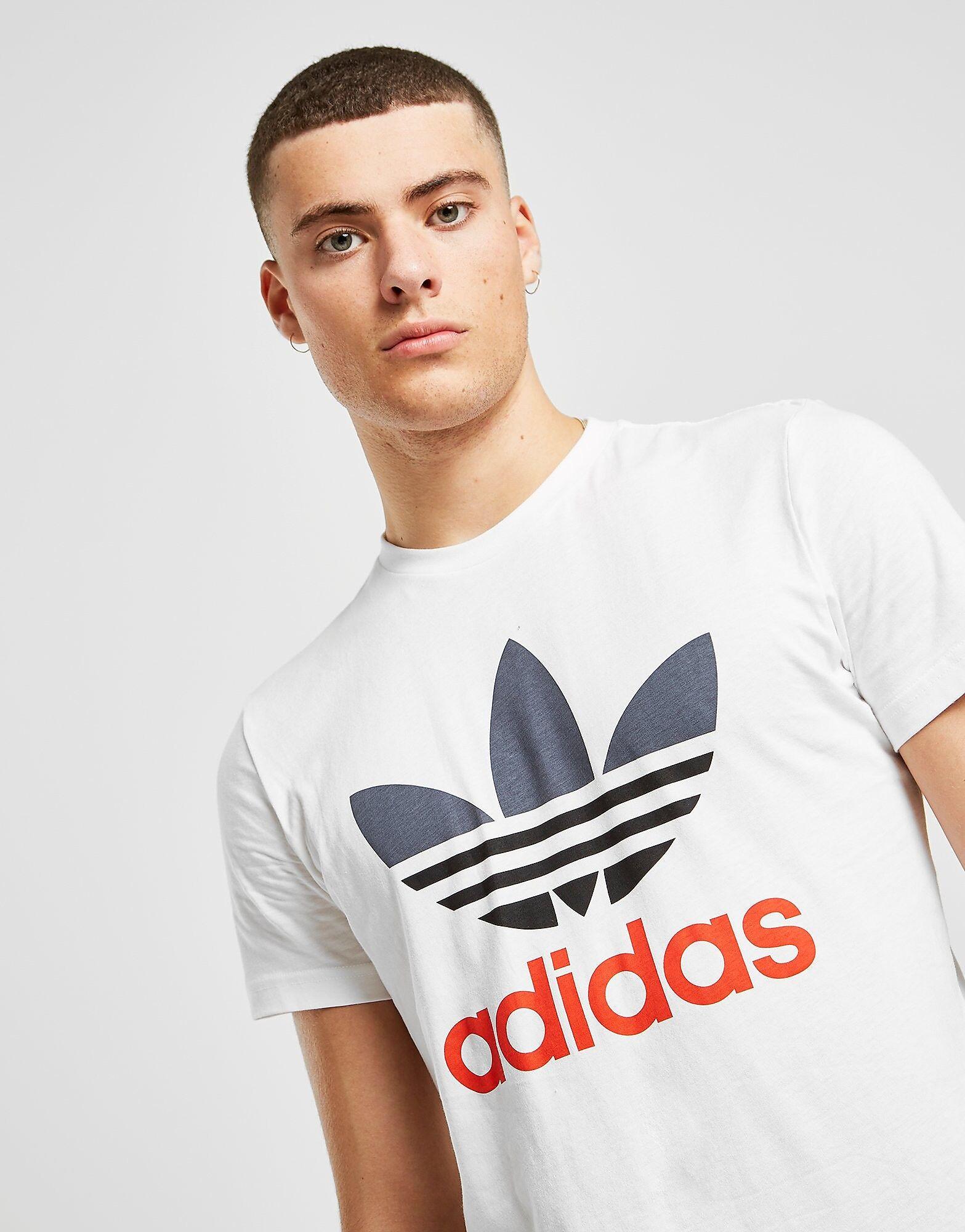Image of Adidas Originals Trefoil QQR T-Paita Miehet - Only at JD - Mens, Valkoinen
