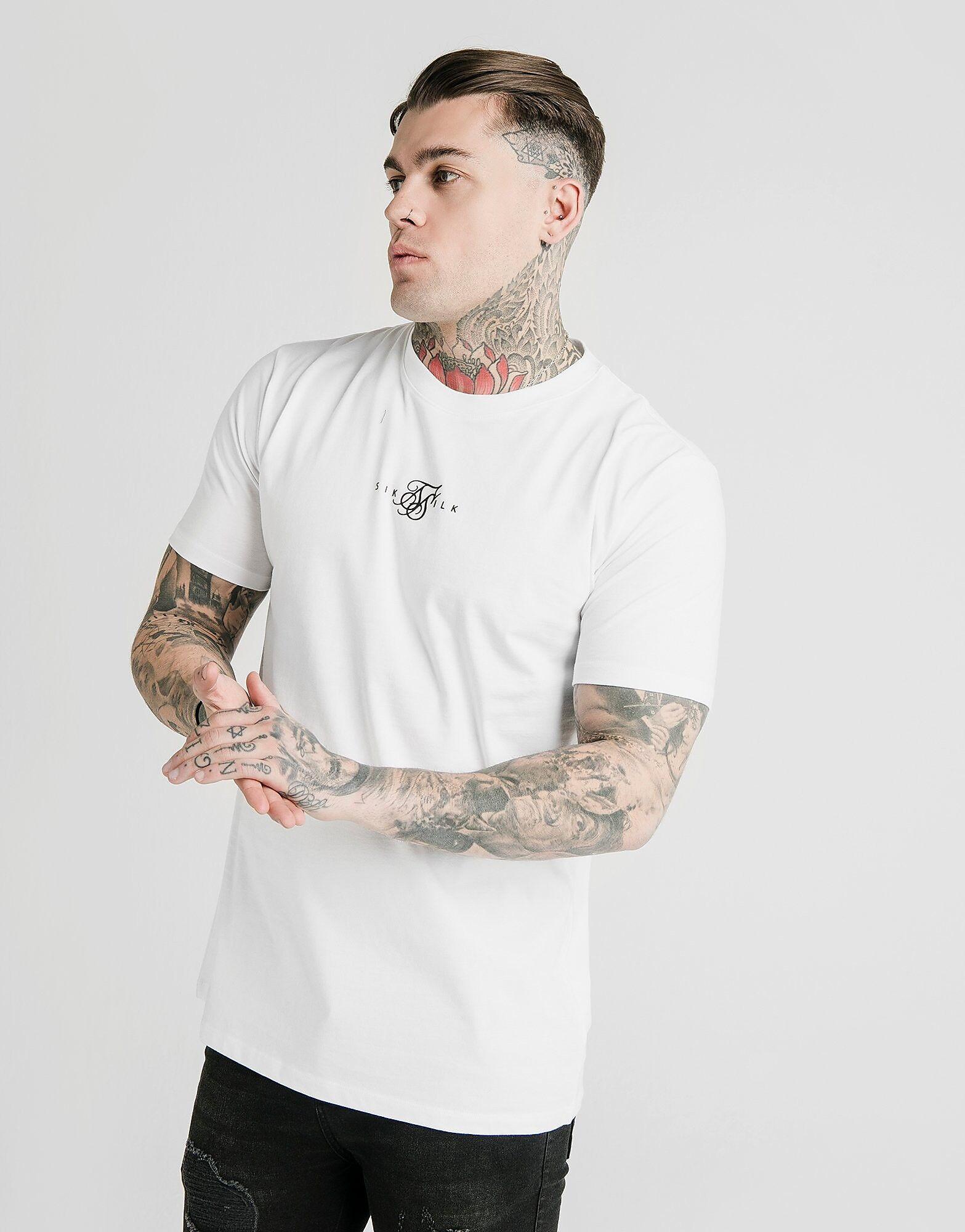 Image of SikSilk Regular T-Shirt - Only at JD - Mens, Valkoinen