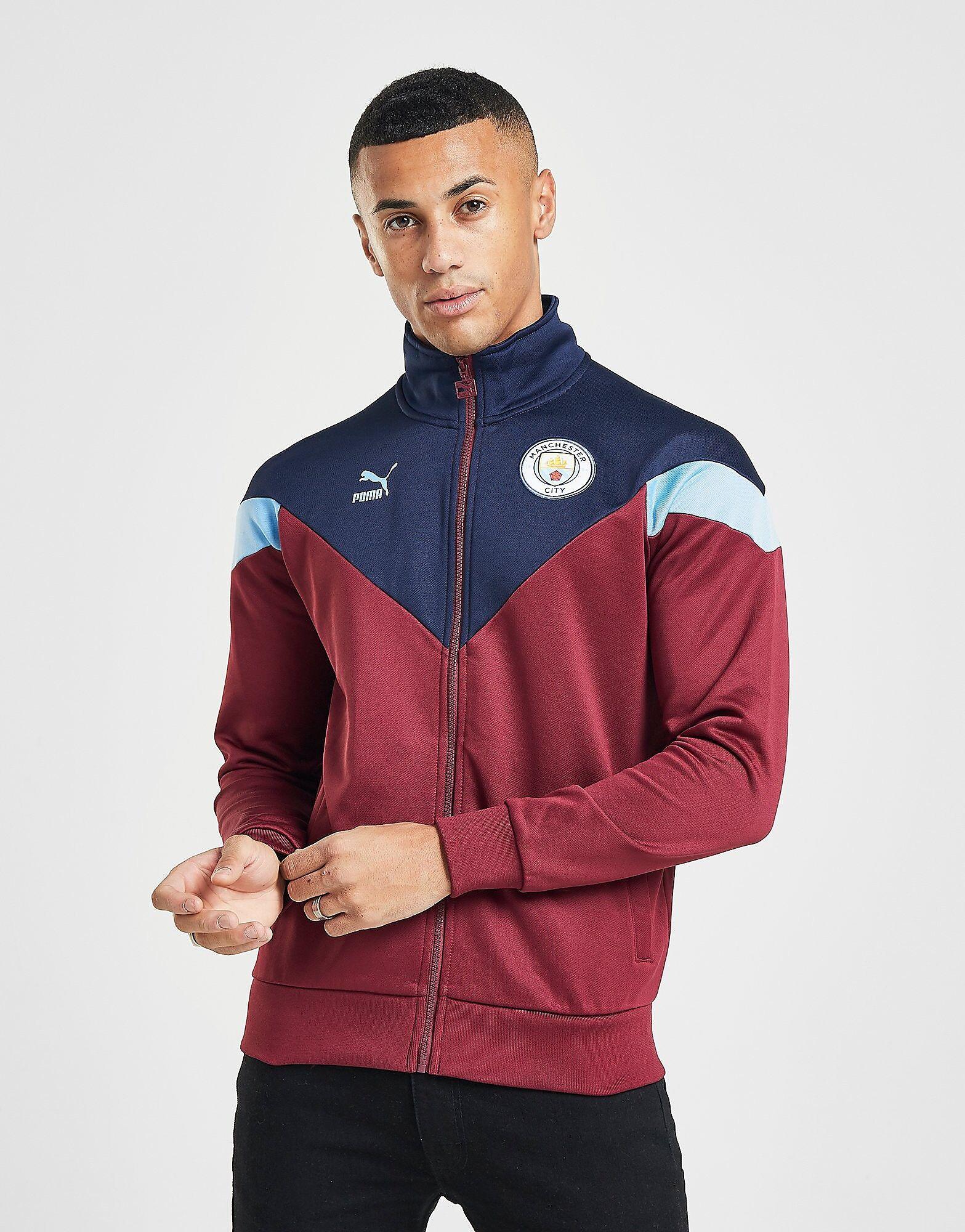 Image of Puma Manchester City FC Icon -verryttelytakki Miehet - Mens, Punainen