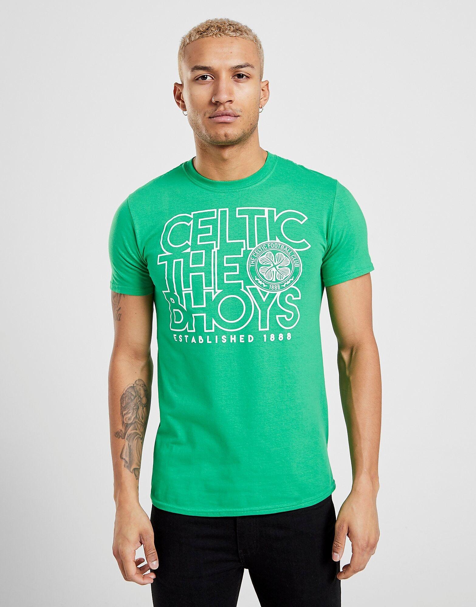 Official Team Celtic The Bhoys T-Paita Miehet - Mens, Vihreä