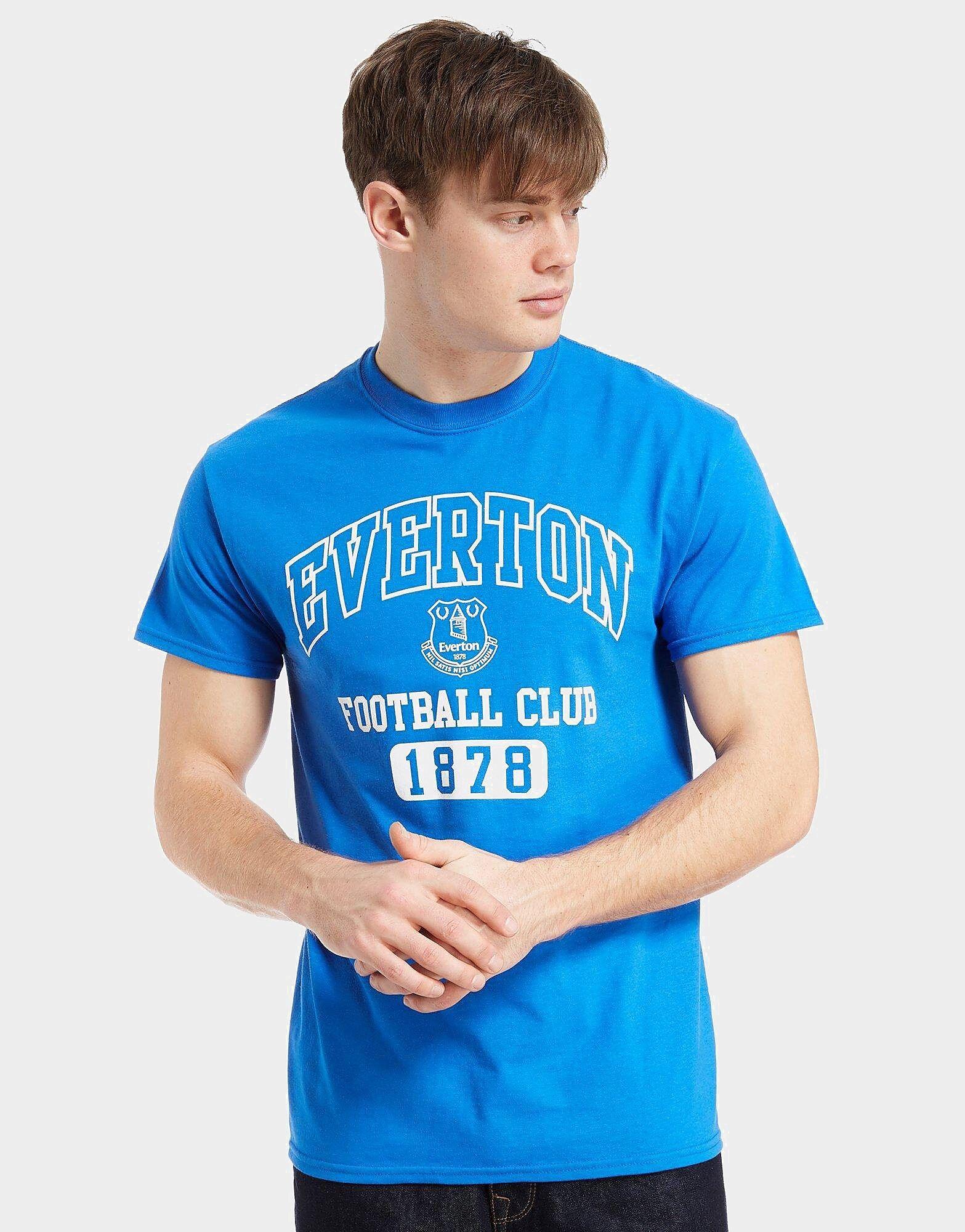 Official Team Everton F.C 1878 -t-paita Miehet - Mens, Royal Blue