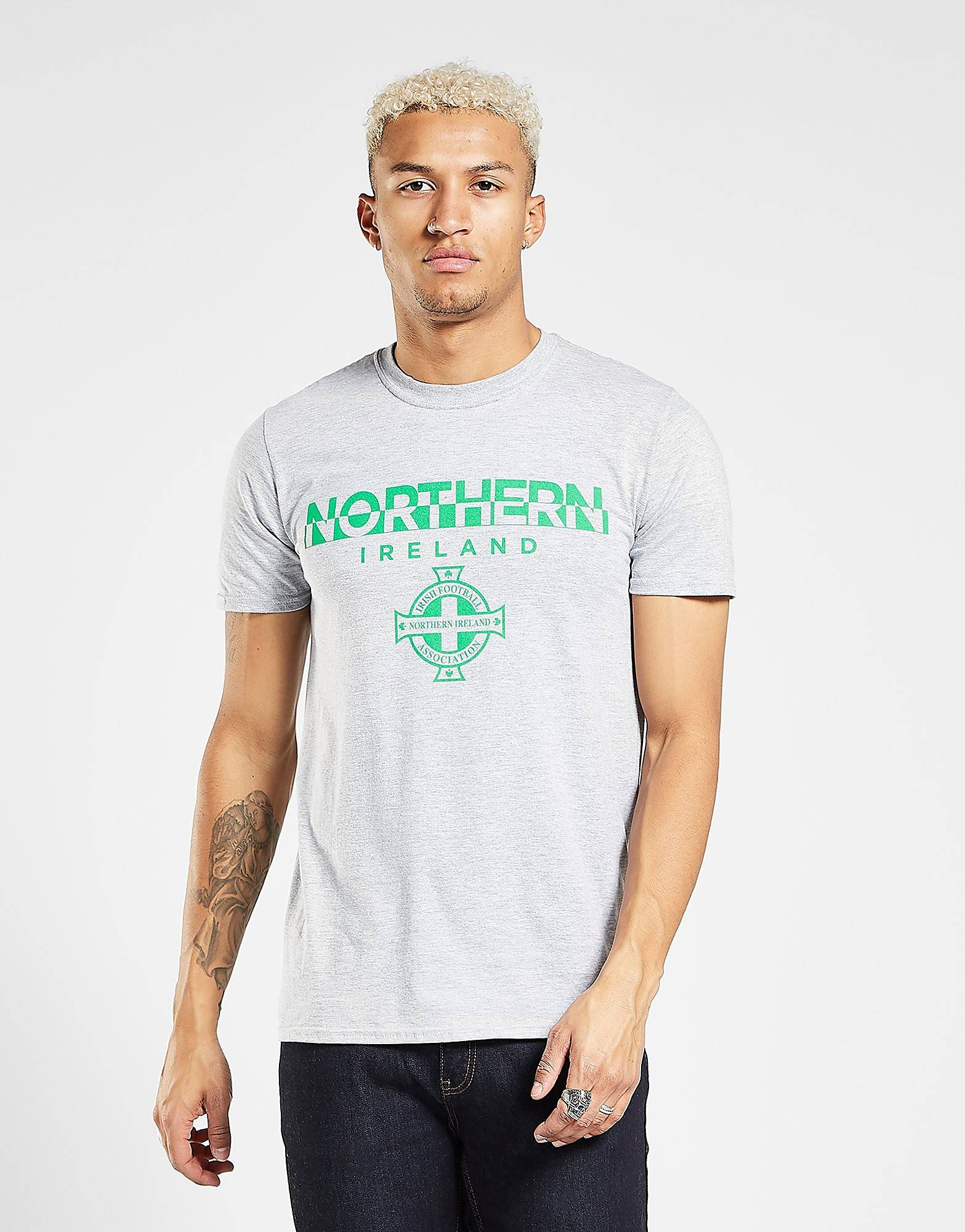 Official Team Northern Ireland Split T-paita - Mens, Harmaa