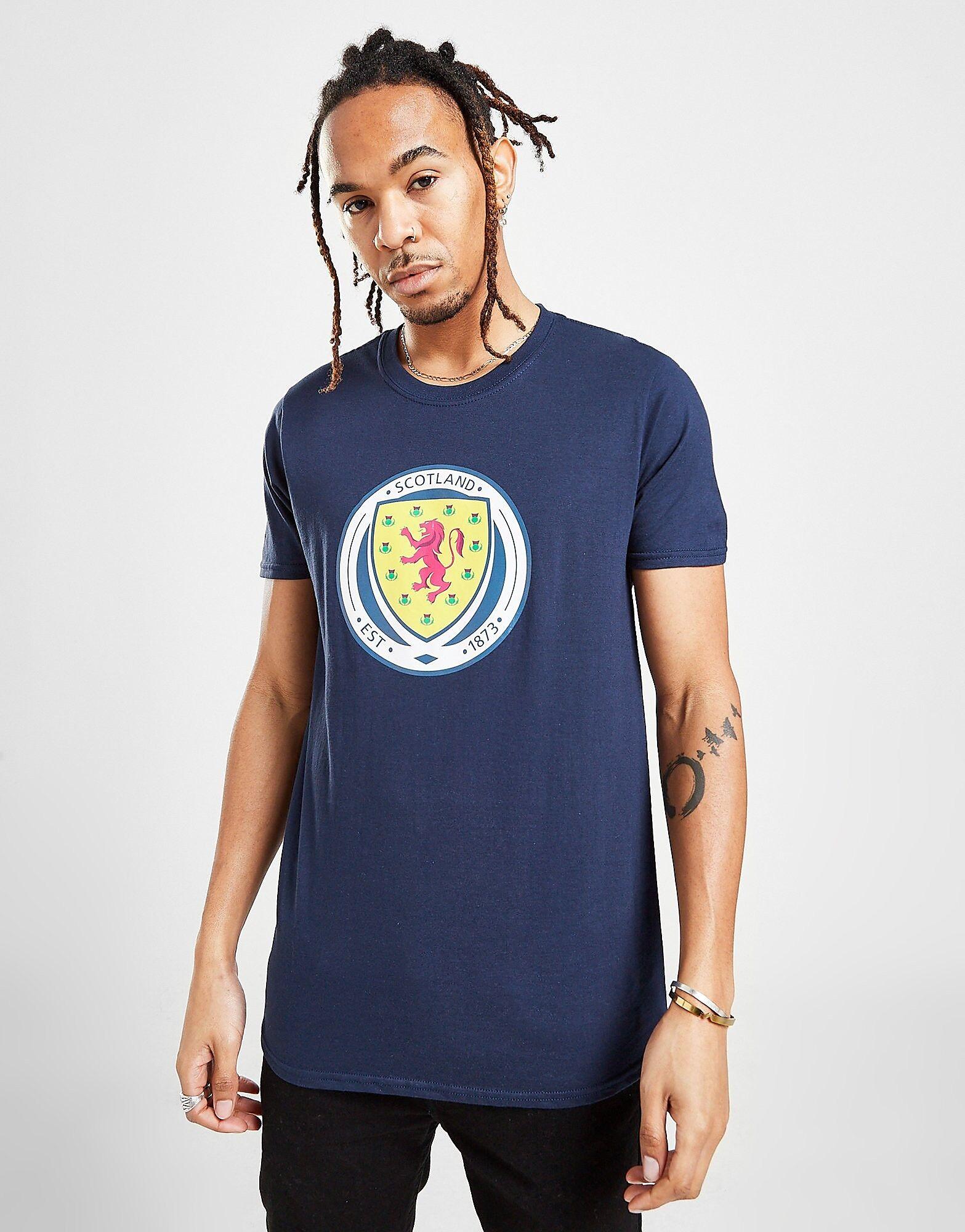 Official Team Scotland FA Crest -T-paita Miehet - Mens, Laivastonsininen