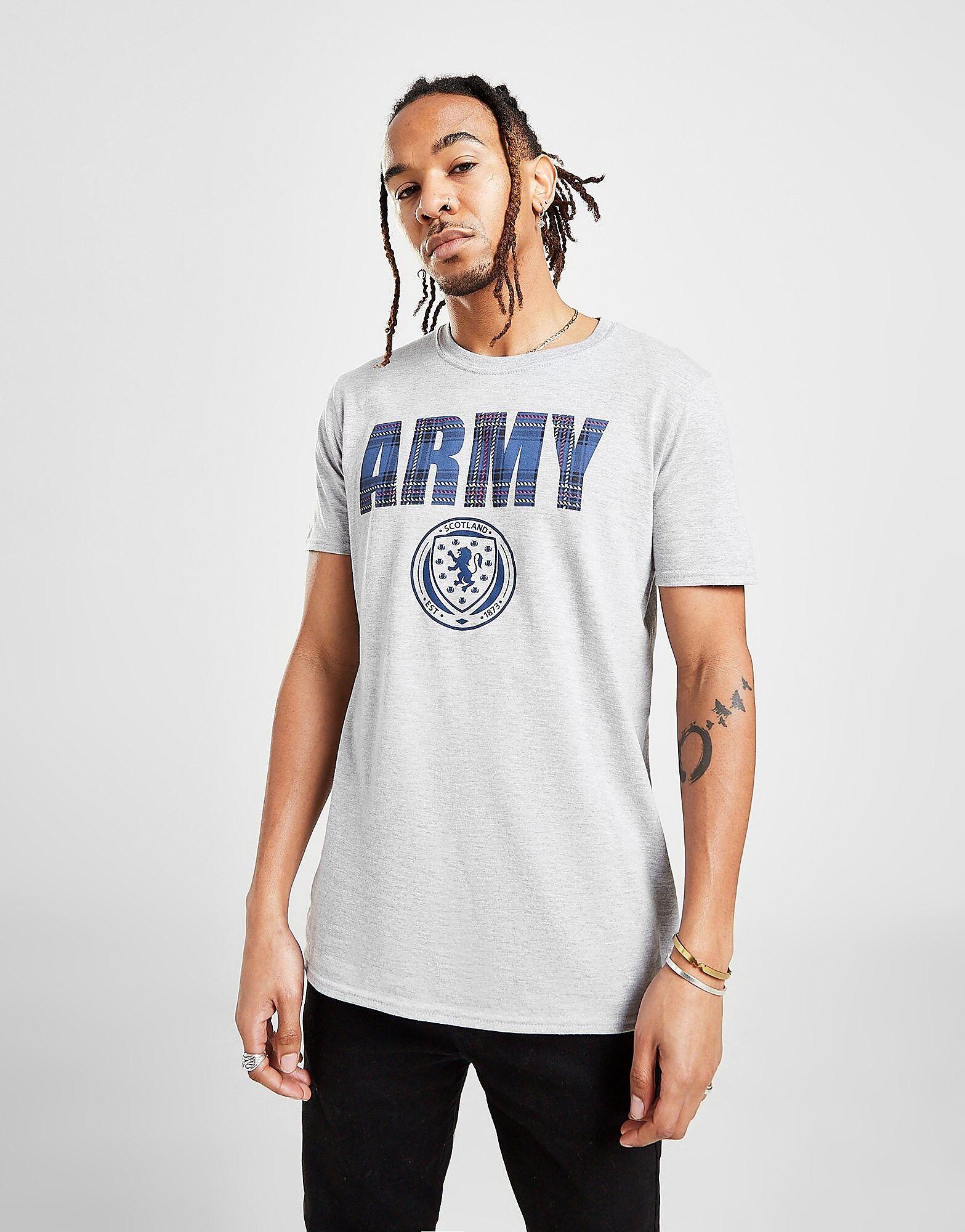 Official Team Scotland Army -t-paita Miehet - Mens, Grey Marl