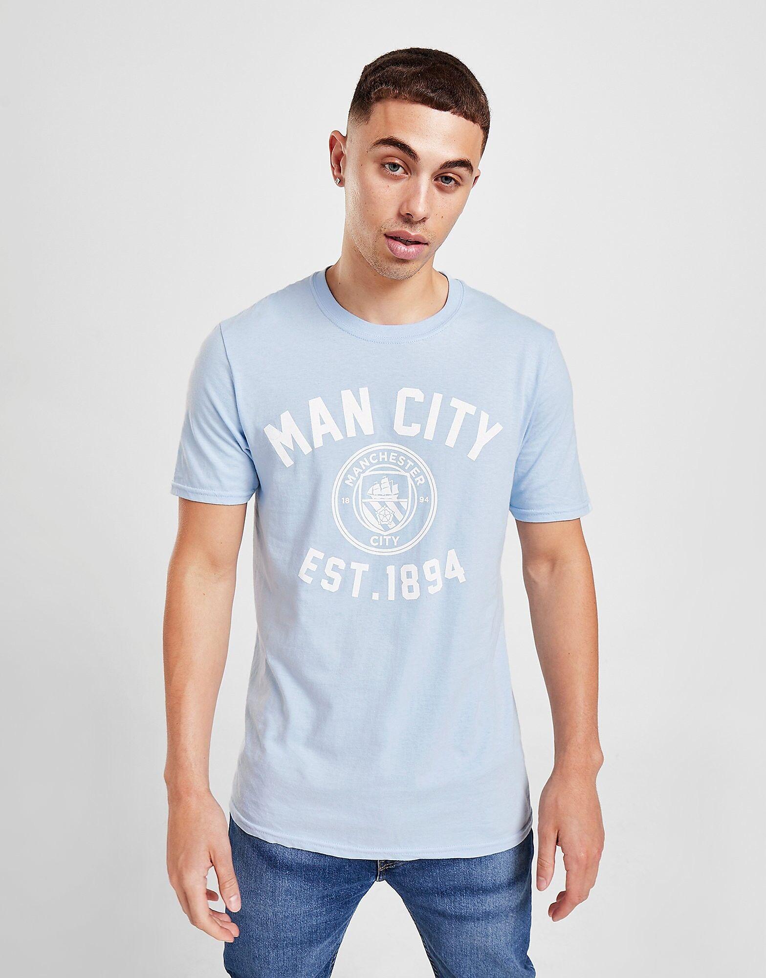 Official Team Manchester City F.C Stadium -t-paita Miehet - Mens, Sky Blue
