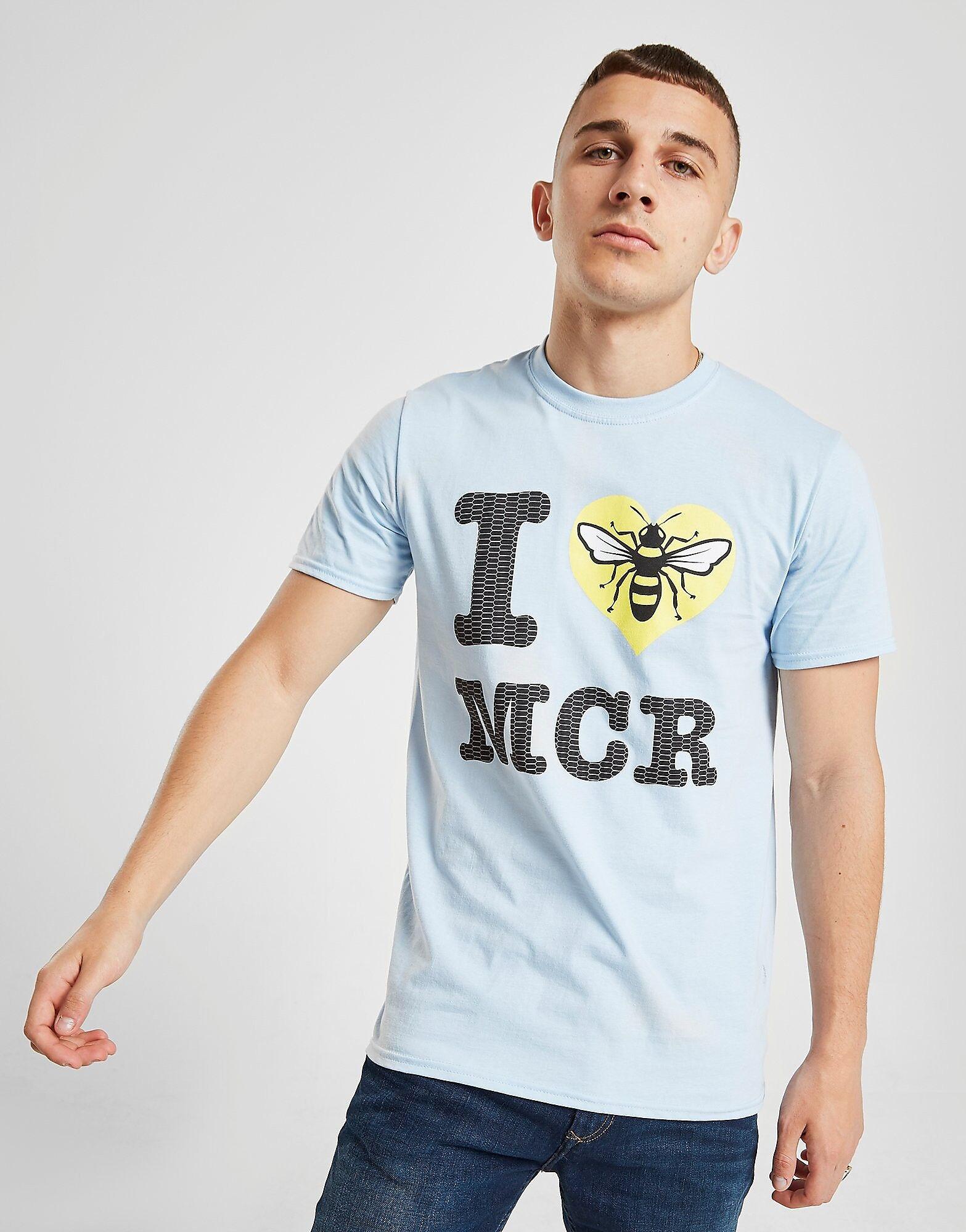 Official Team I Heart Manchester T-paita Miehet - Mens, Sininen