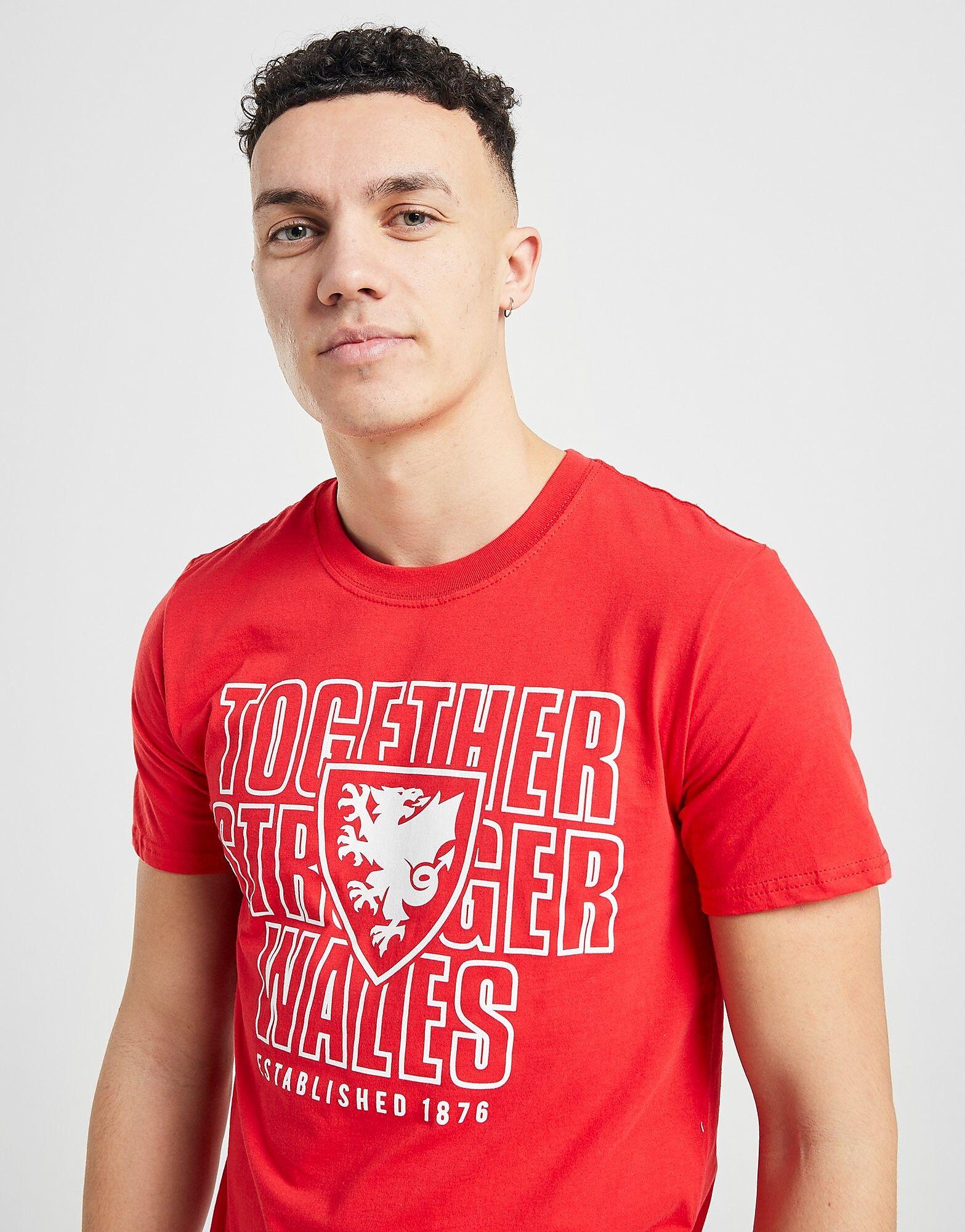 Official Team Wales Together T-paita Miehet - Mens, Punainen