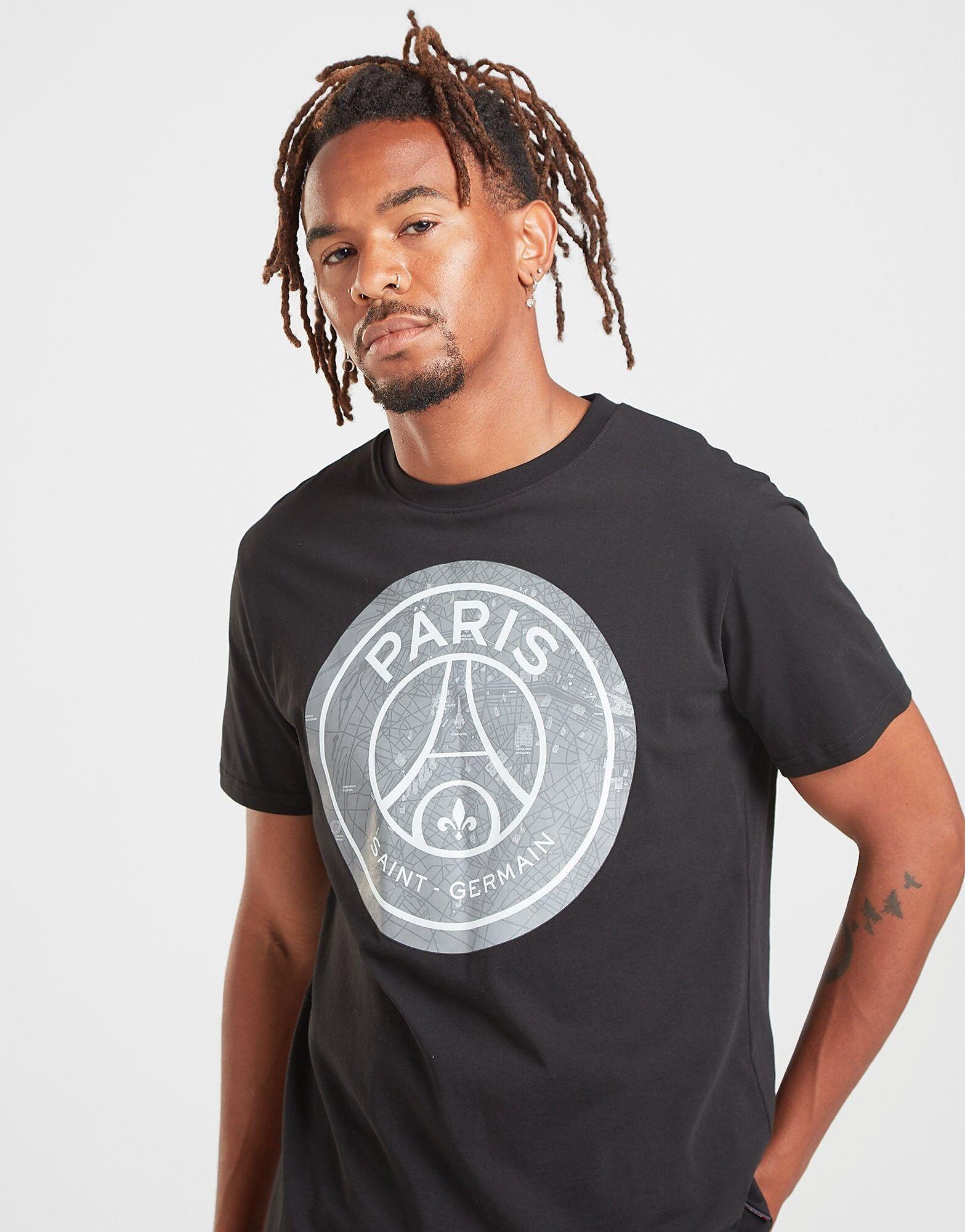 Official Team Paris Saint Germain Crest T-paita Miehet - Mens, Musta