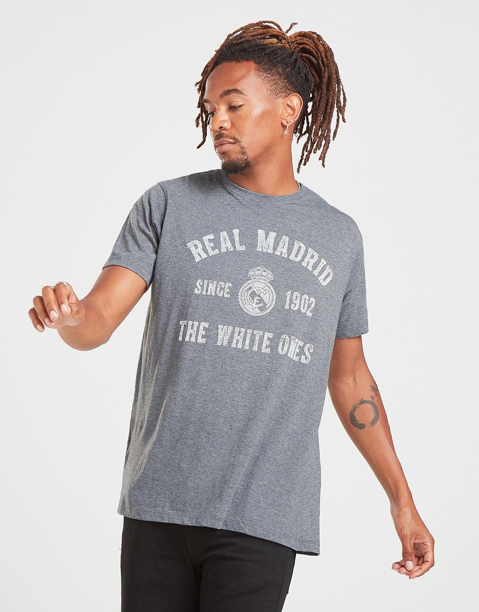 Official Team Real Madrid Arch -T-paita Miehet - Mens, Harmaa