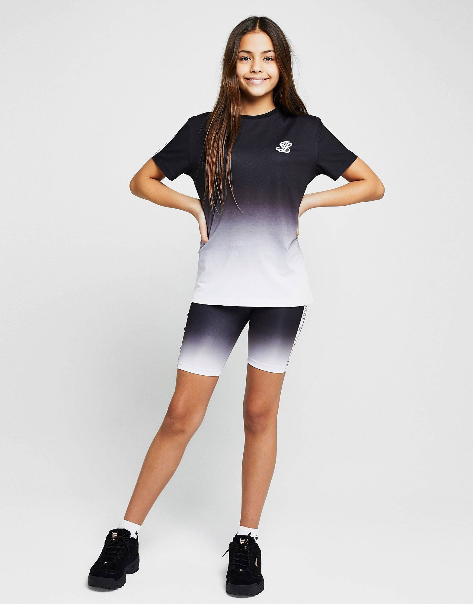 Image of ILLUSIVE LONDON Girls' Tape Fade Cycle Shorts Junior - Only at JD - Kids, Musta