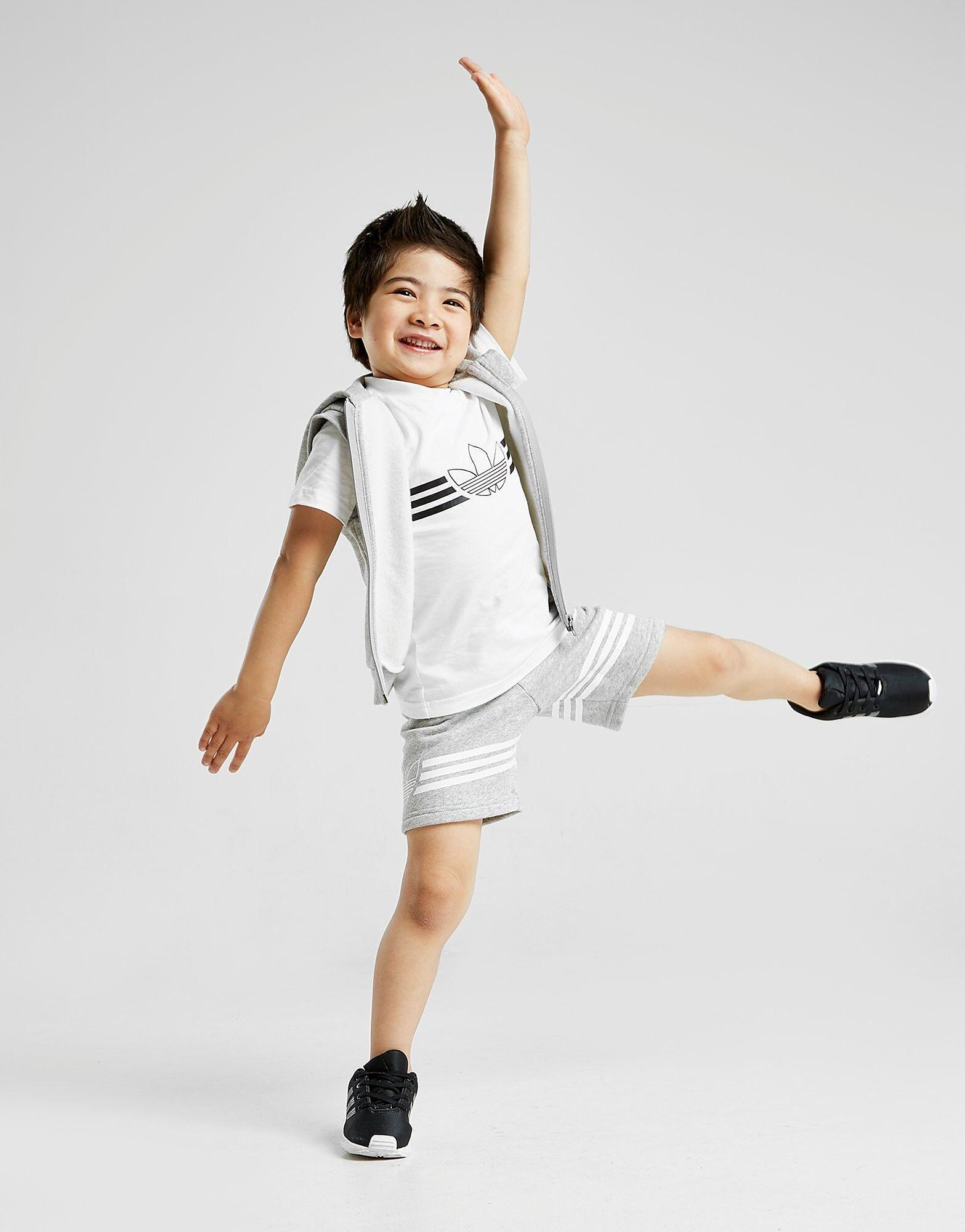 Image of Adidas Originals 3 Piece Sleeveless Puku Vauvat - Only at JD - Kids, Harmaa