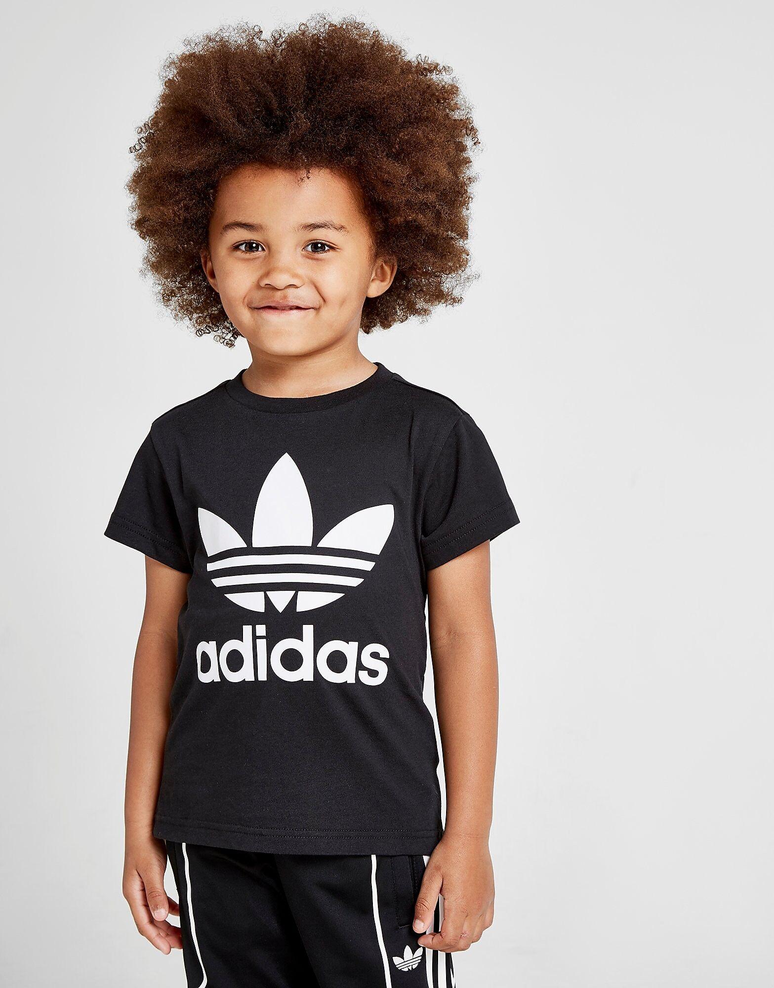 Image of Adidas Originals Trefoil T-Paita Lapset - Kids, Musta