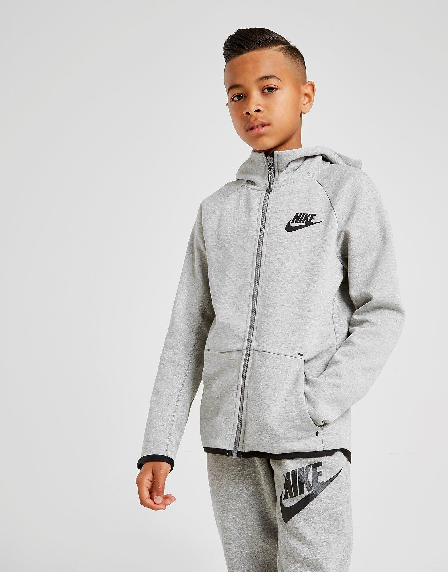 Image of Nike Tech Essential Colour Block Huppari Juniorit - Kids, Harmaa