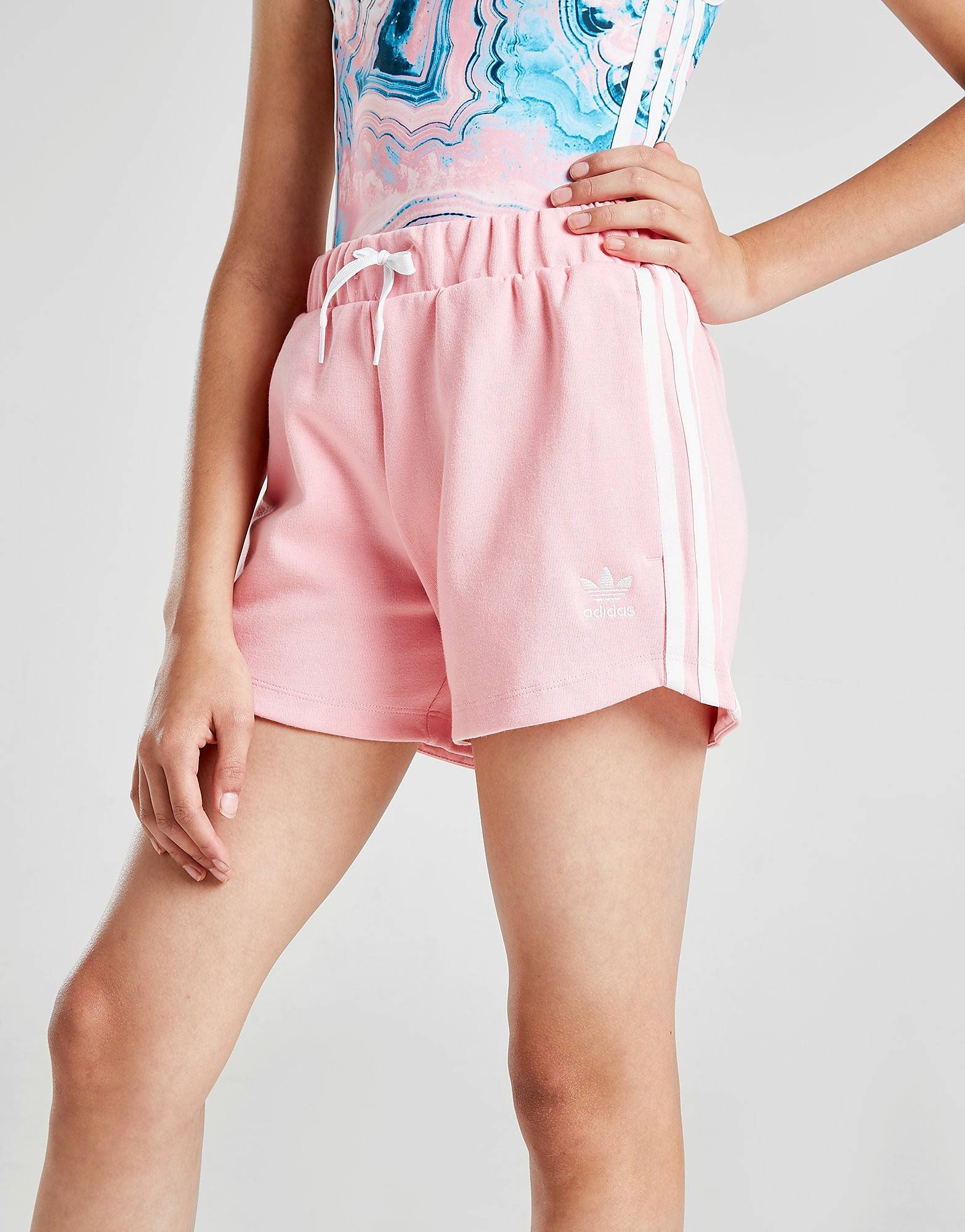Image of Adidas Originals Girls' 3-Stripes Shorts Junior - Kids, Vaaleanpunainen
