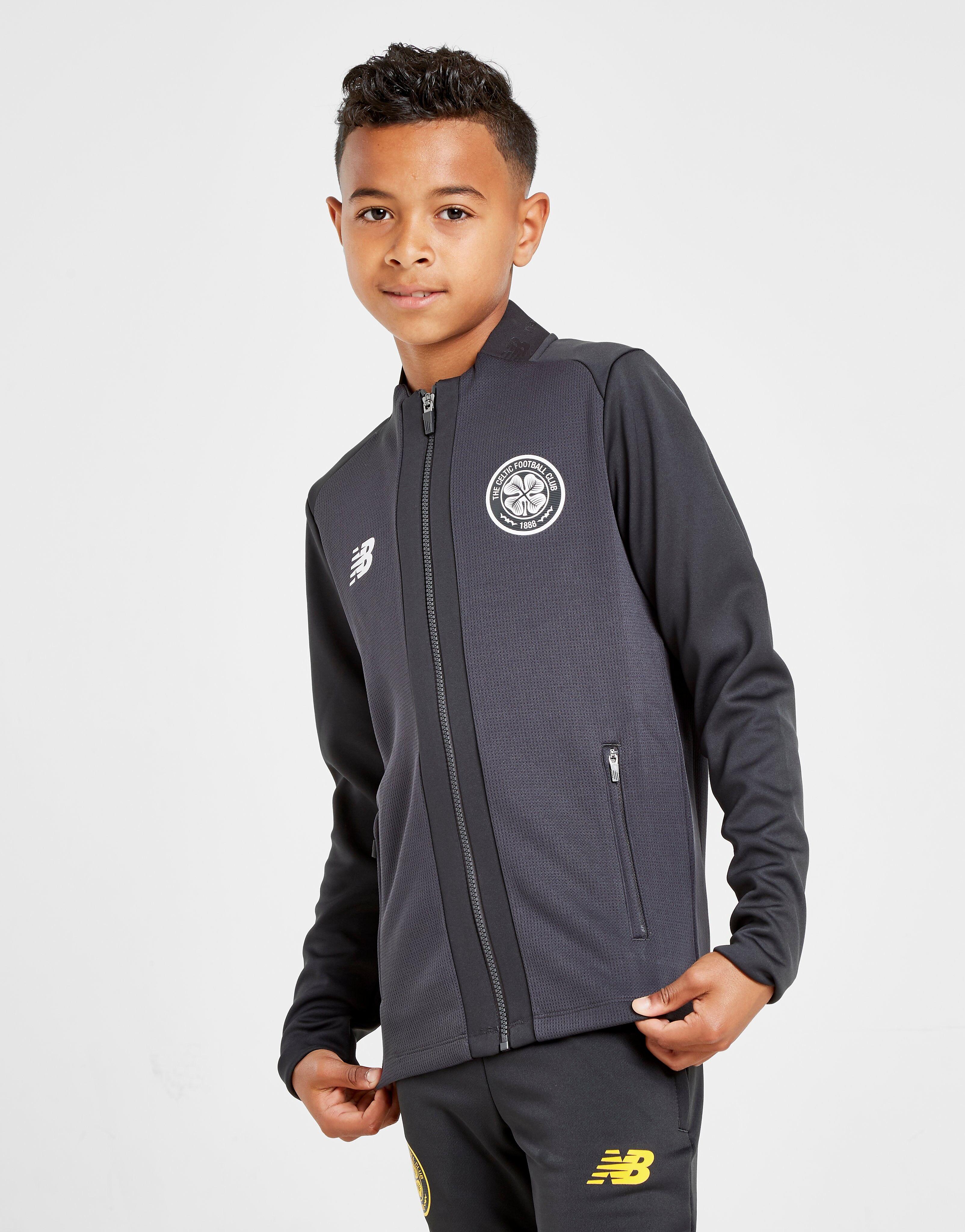 Image of New Balance Celtic FC Game Jacket Junior - Kids, Musta