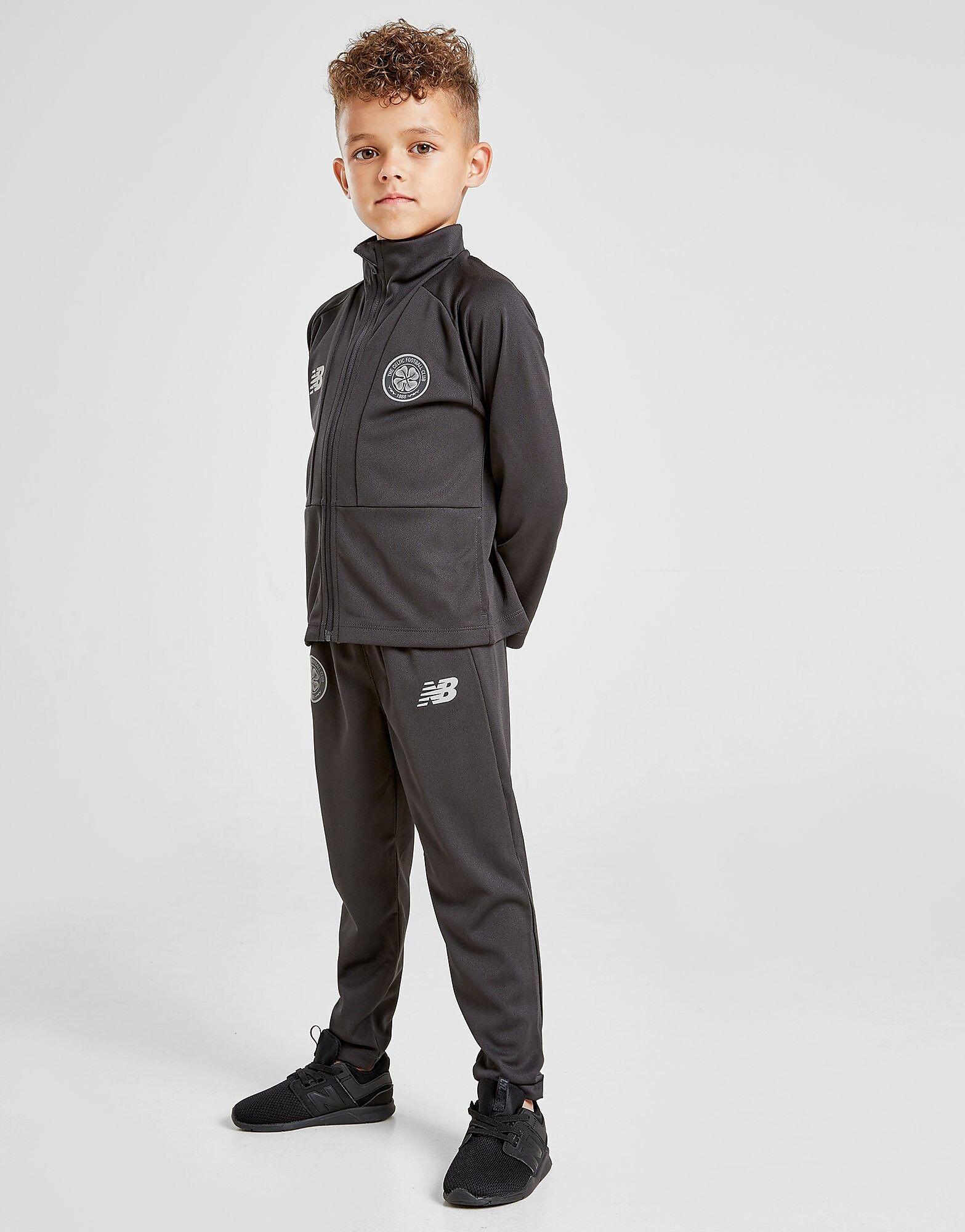Image of New Balance Celtic FC 2018/19 Tracksuit Children - Kids, Musta