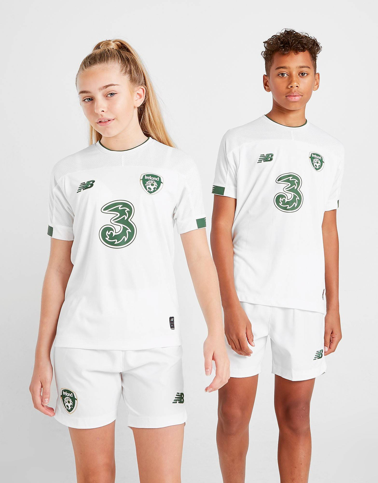 Image of New Balance Republic of Ireland 2019/20 Away Shirt Junior - Kids, Valkoinen