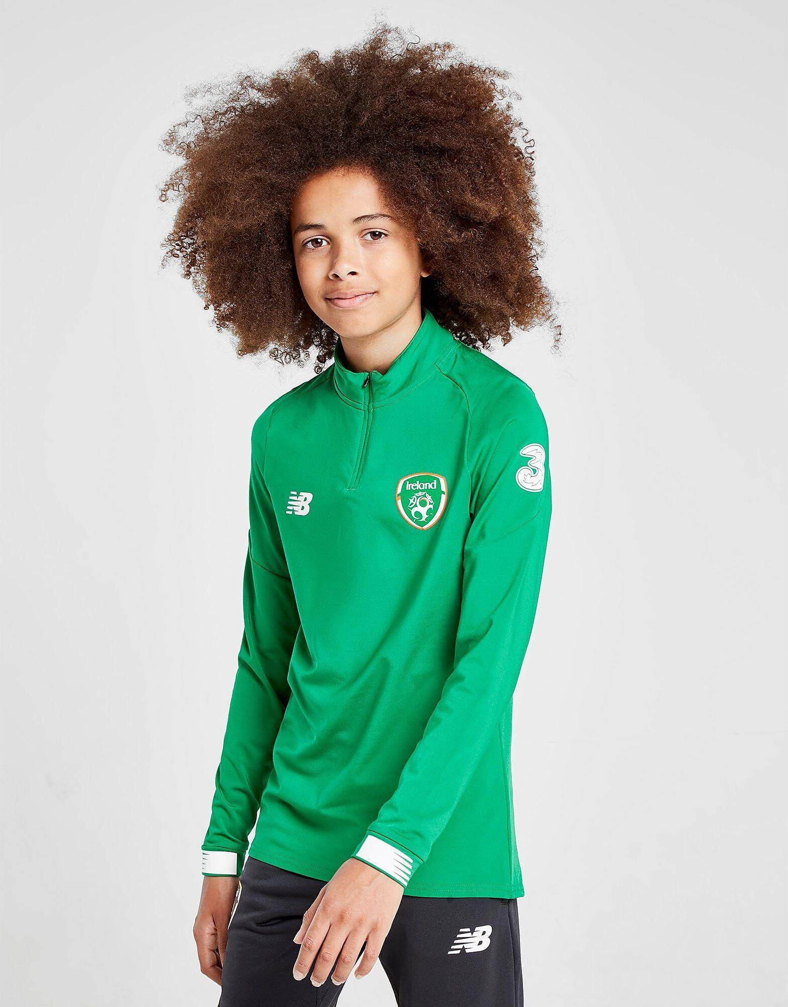 Image of New Balance Republic of Ireland Long Sleeve 1/2 Zip Top Junior - Kids, Vihreä