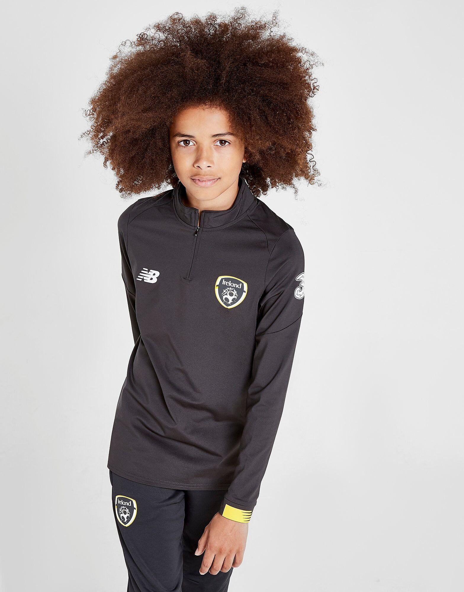Image of New Balance Republic of Ireland Long Sleeve 1/2 Zip Top Junior - Kids, Harmaa