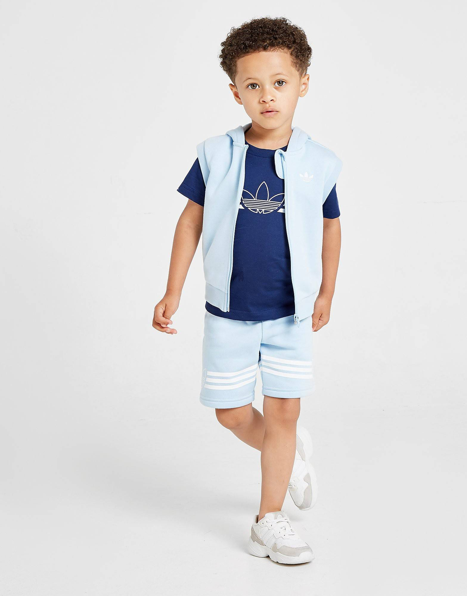 Image of Adidas Originals Kolmiosainen hihaton puku Vauvat - Only at JD - Kids, Sininen
