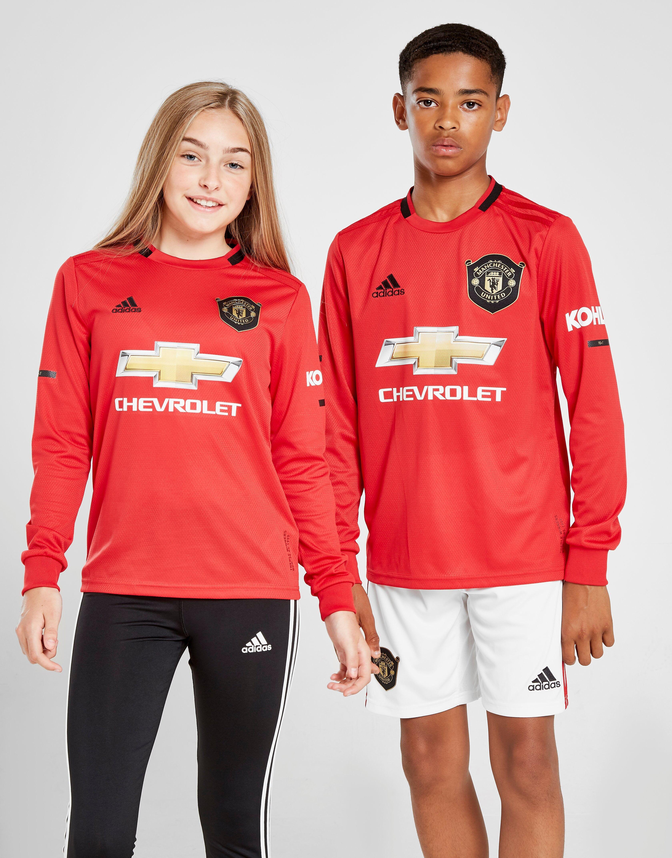 Image of Adidas Manchester United 19/20 Pitkähihainen Kotipaita Juniorit - Kids, Punainen