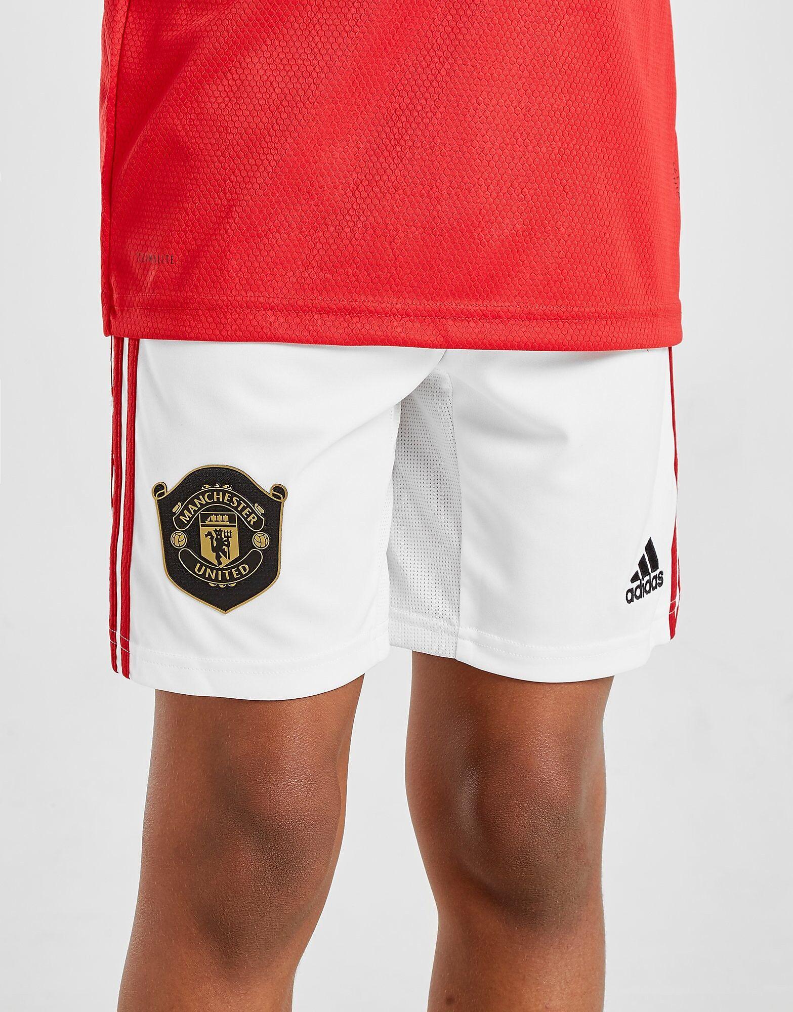 Image of Adidas Manchester United FC 19/20 Kotishortsit - Kids, Valkoinen