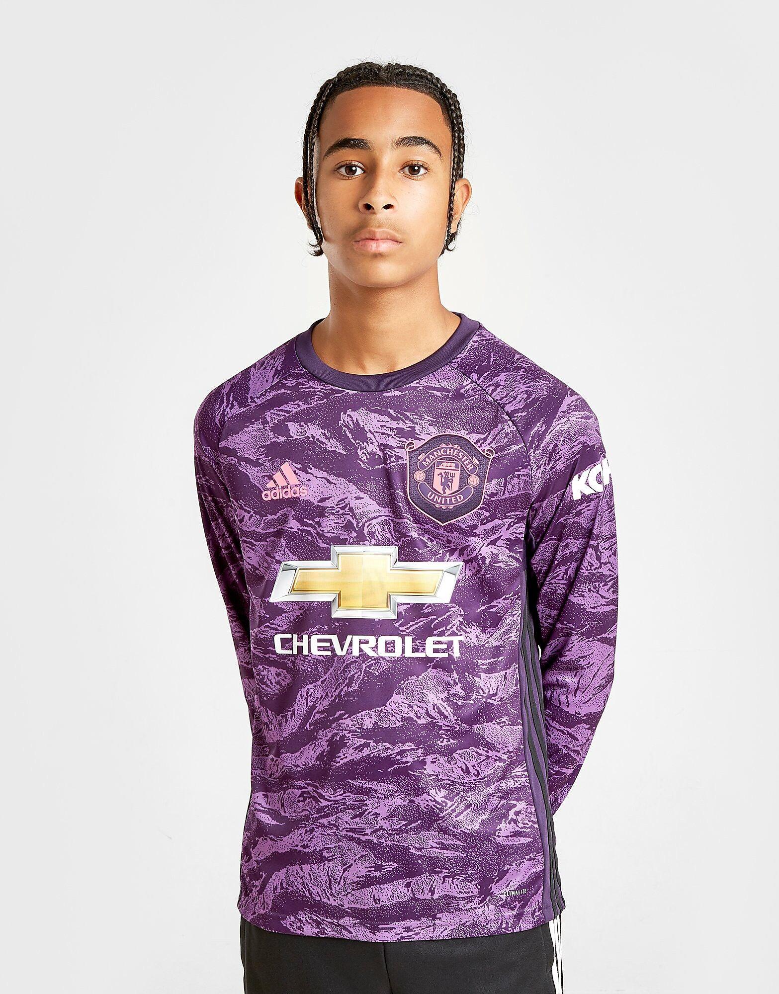Image of Adidas Manchester Utd 19/20 Maalivahti Kotipaita Juniorit - Kids, Violetti