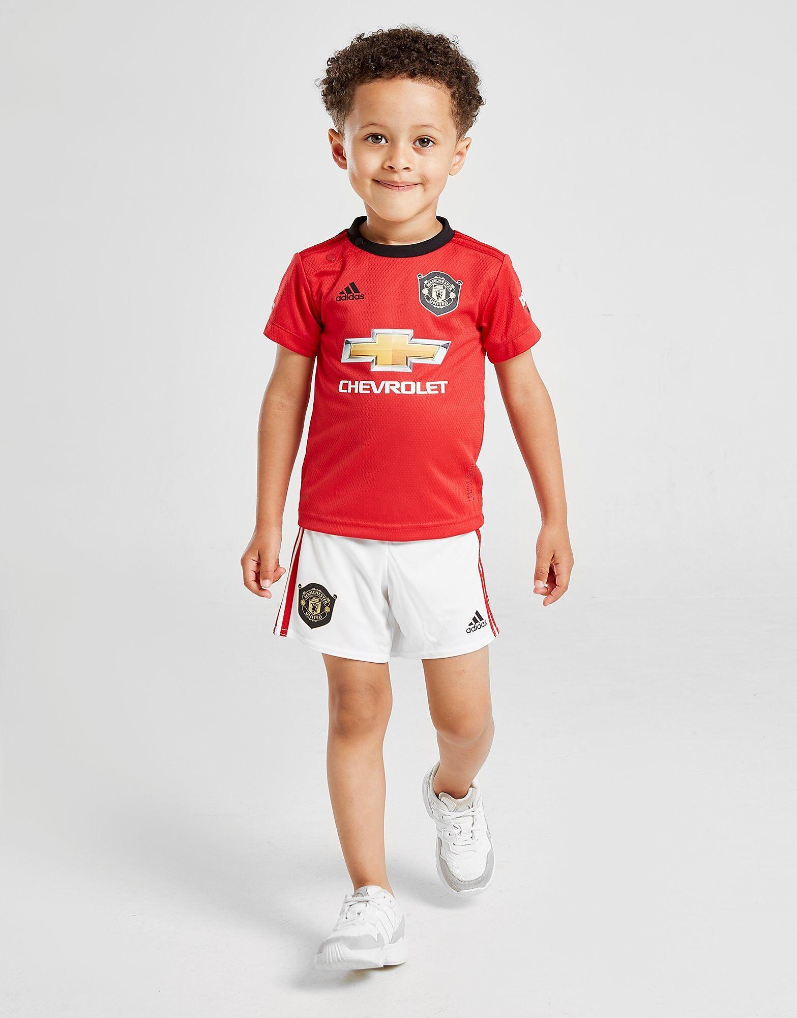 Image of Adidas Manchester United 19/20 Kotisetti Vauvat - Kids, Punainen