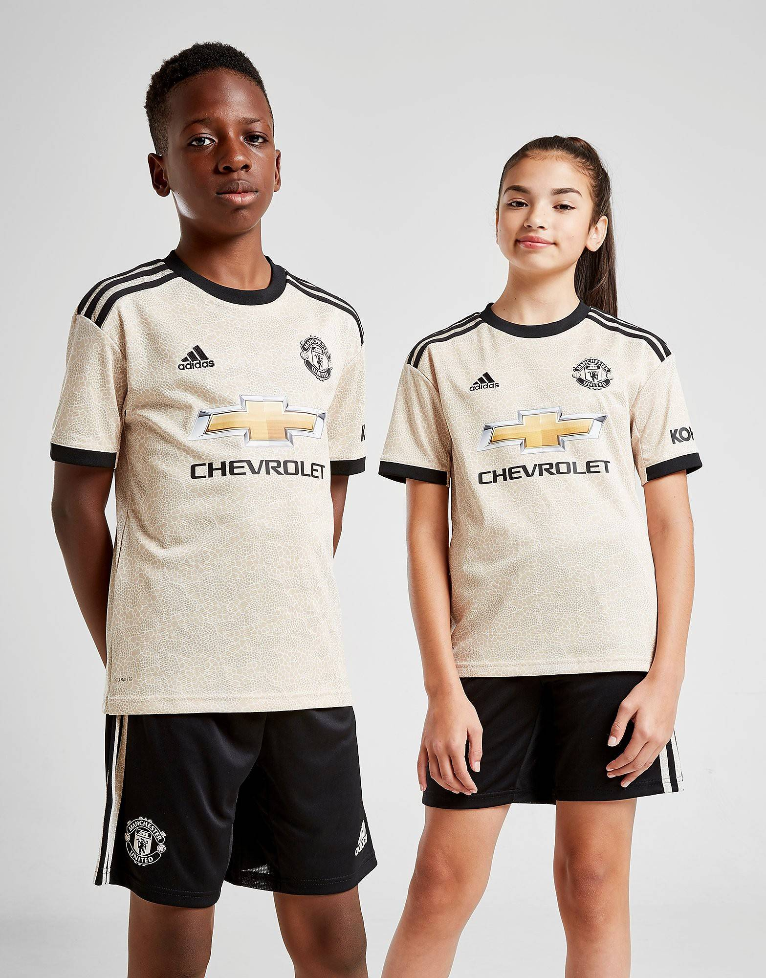Image of Adidas Manchester United FC 19/20 Vieraspaita Juniorit - Kids, Ruskea