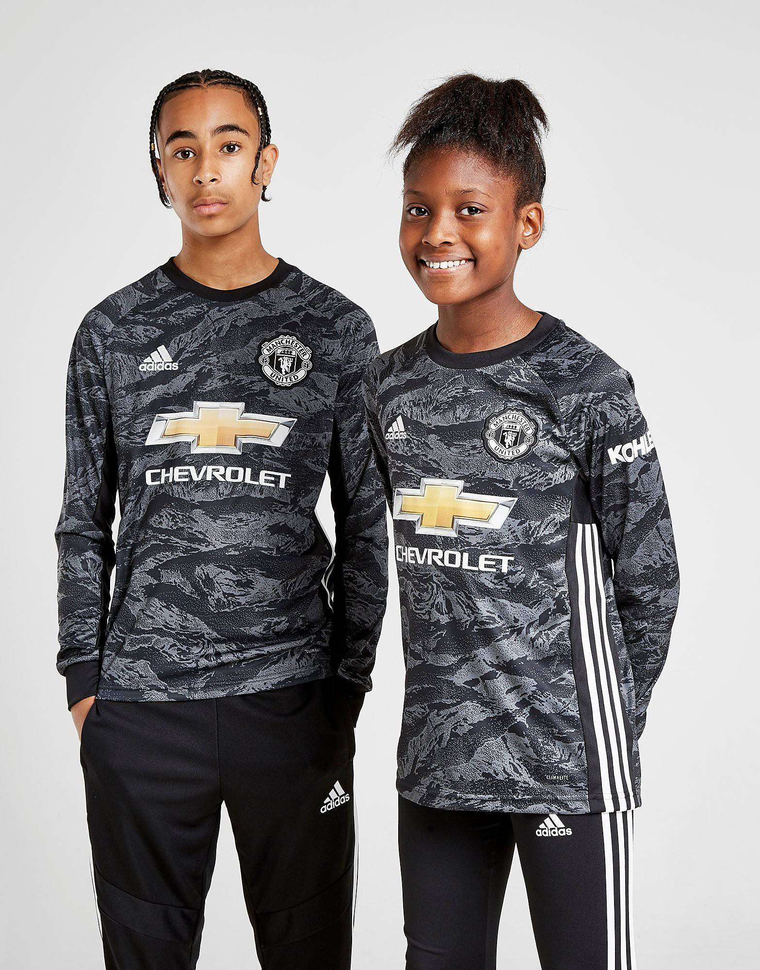 Image of Adidas Manchester Utd 19/20 Goalkeeper Vieraspaita Juniorit - Kids, Musta