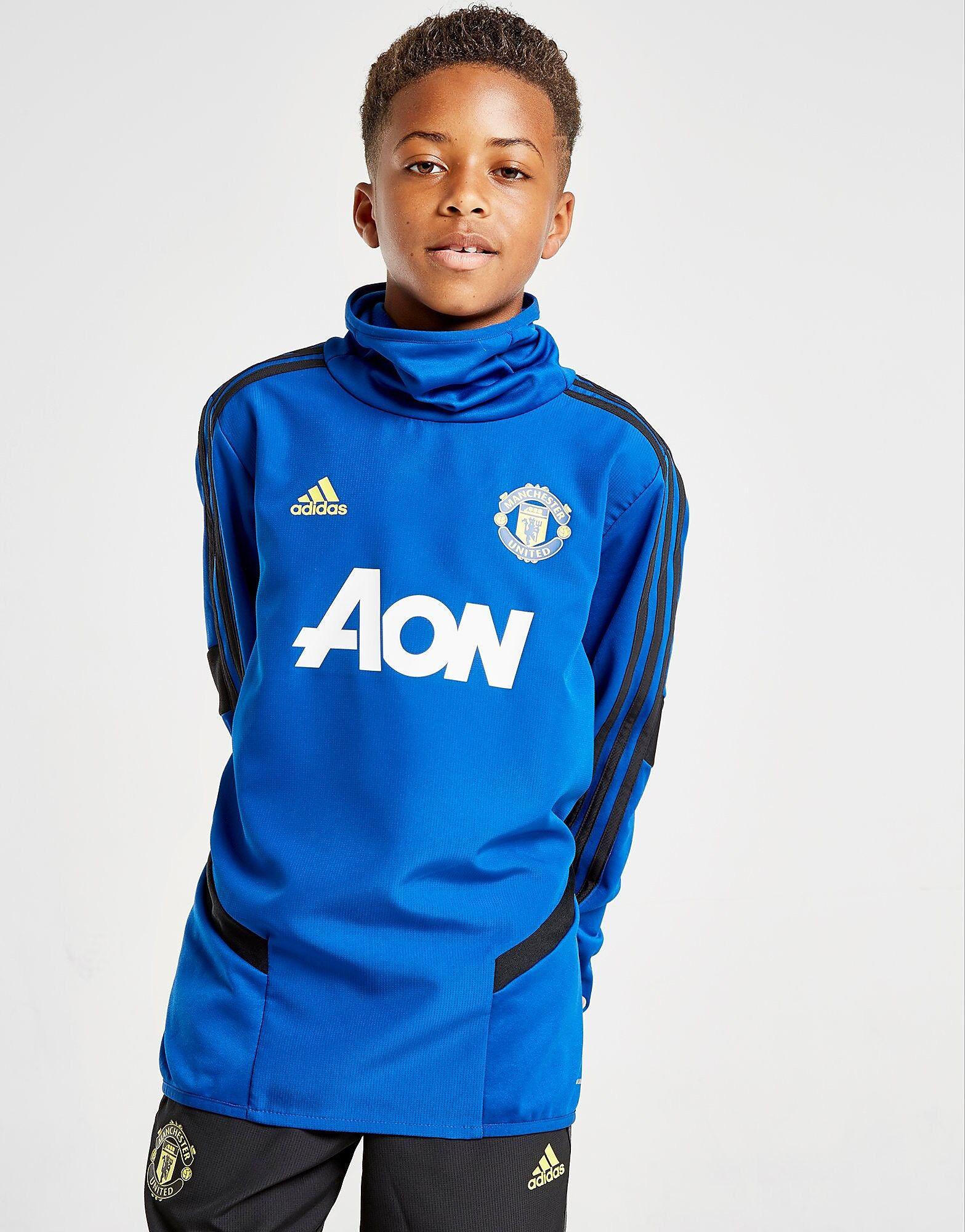 Image of Adidas Manchester United FC Lämpöpaita Juniorit - Kids, Sininen
