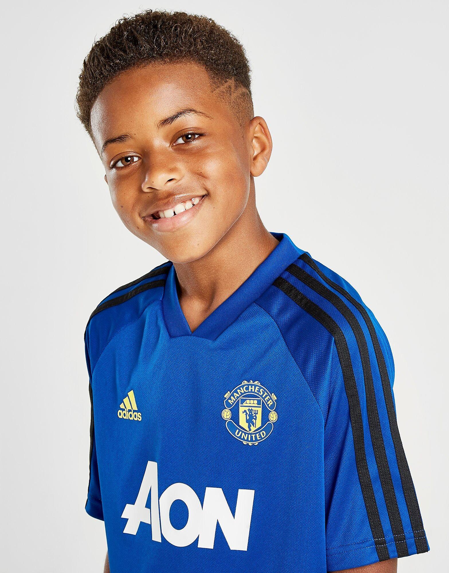 Image of Adidas Manchester United Training Shirt Junior - Kids, Sininen