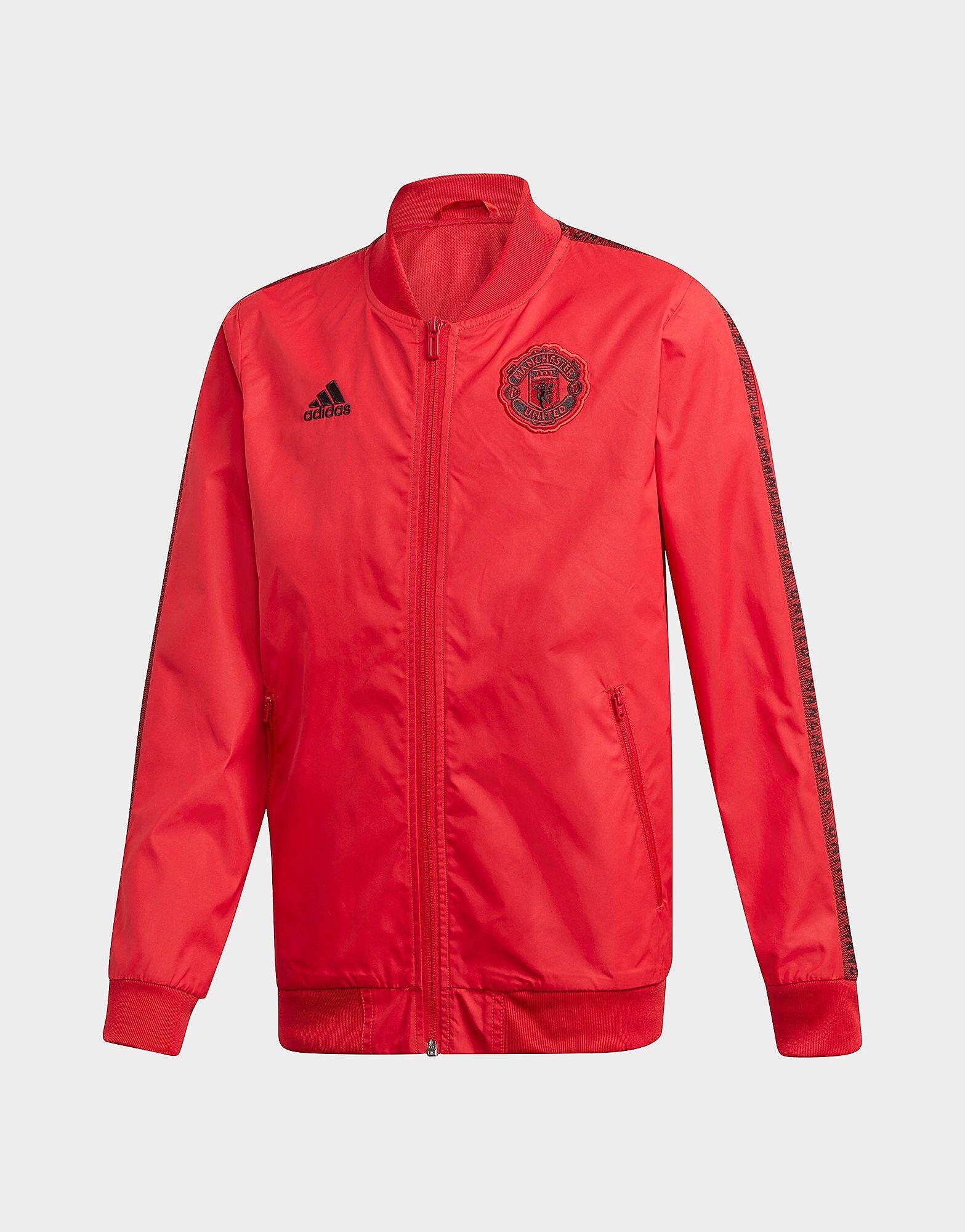 Image of Adidas Manchester United FC Anthem Takki Juniorit - Kids, Punainen