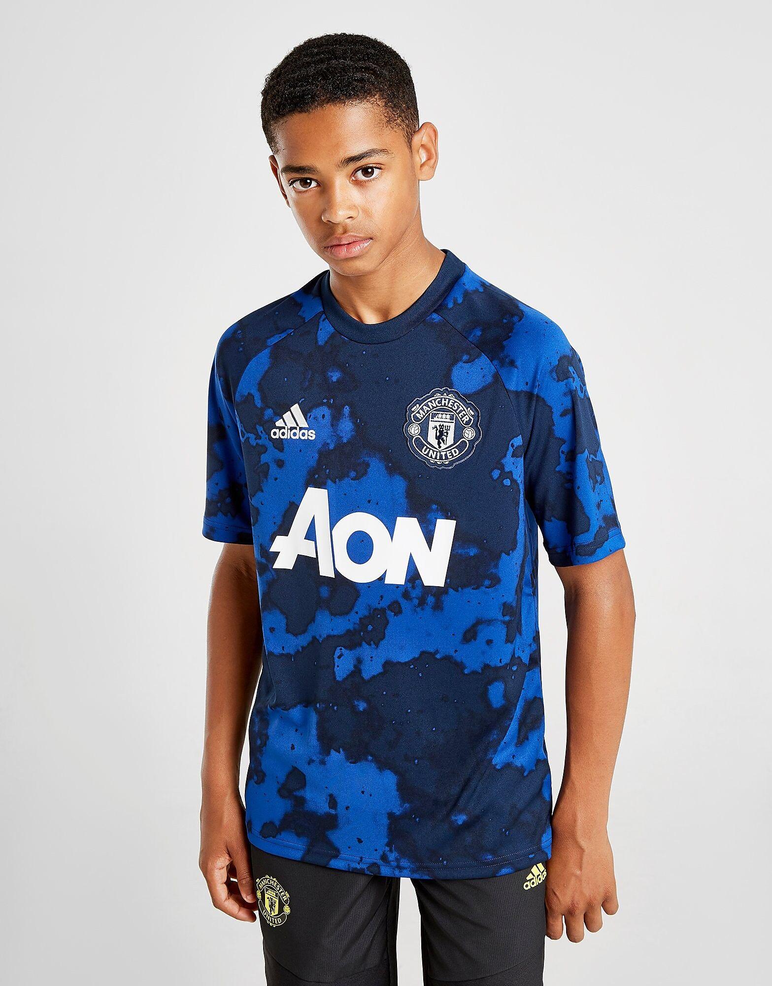 Image of Adidas Manchester United FC Pre-Match Shirt Junior - Kids, Sininen