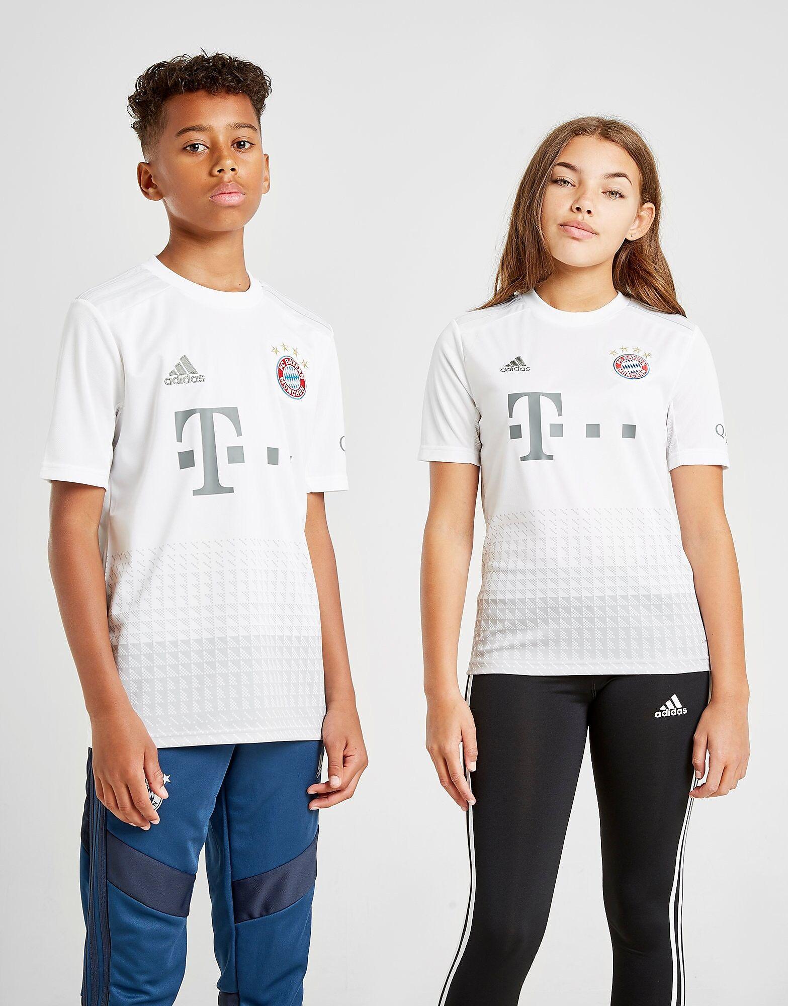 Image of Adidas FC Bayern Munich 19/20 Vieraspaita Juniorit - Kids, Valkoinen