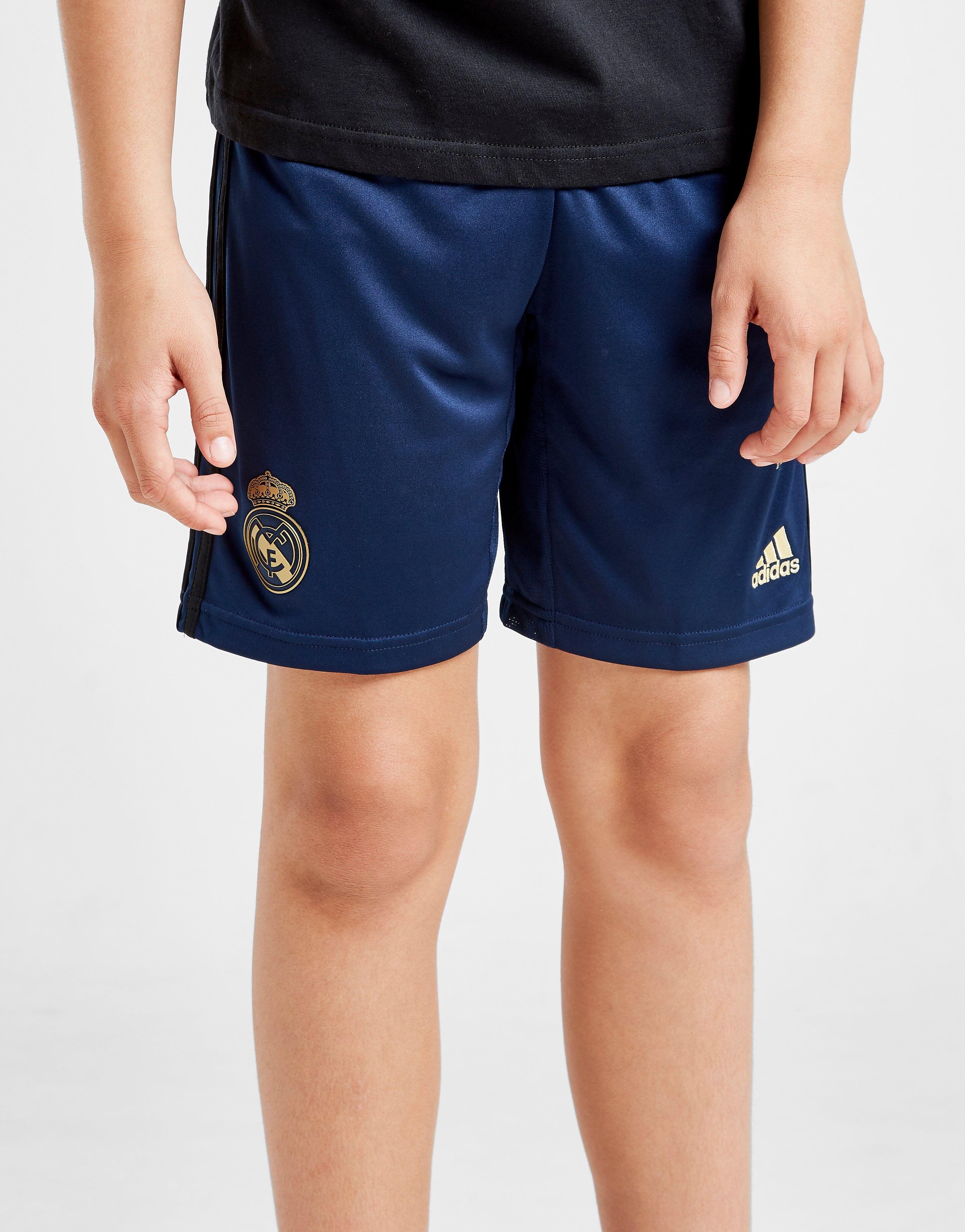 Image of Adidas Real Madrid 2019/20 Vierasshortsit Juniorit ENNAKKOTILAUS - Kids, Laivastonsininen